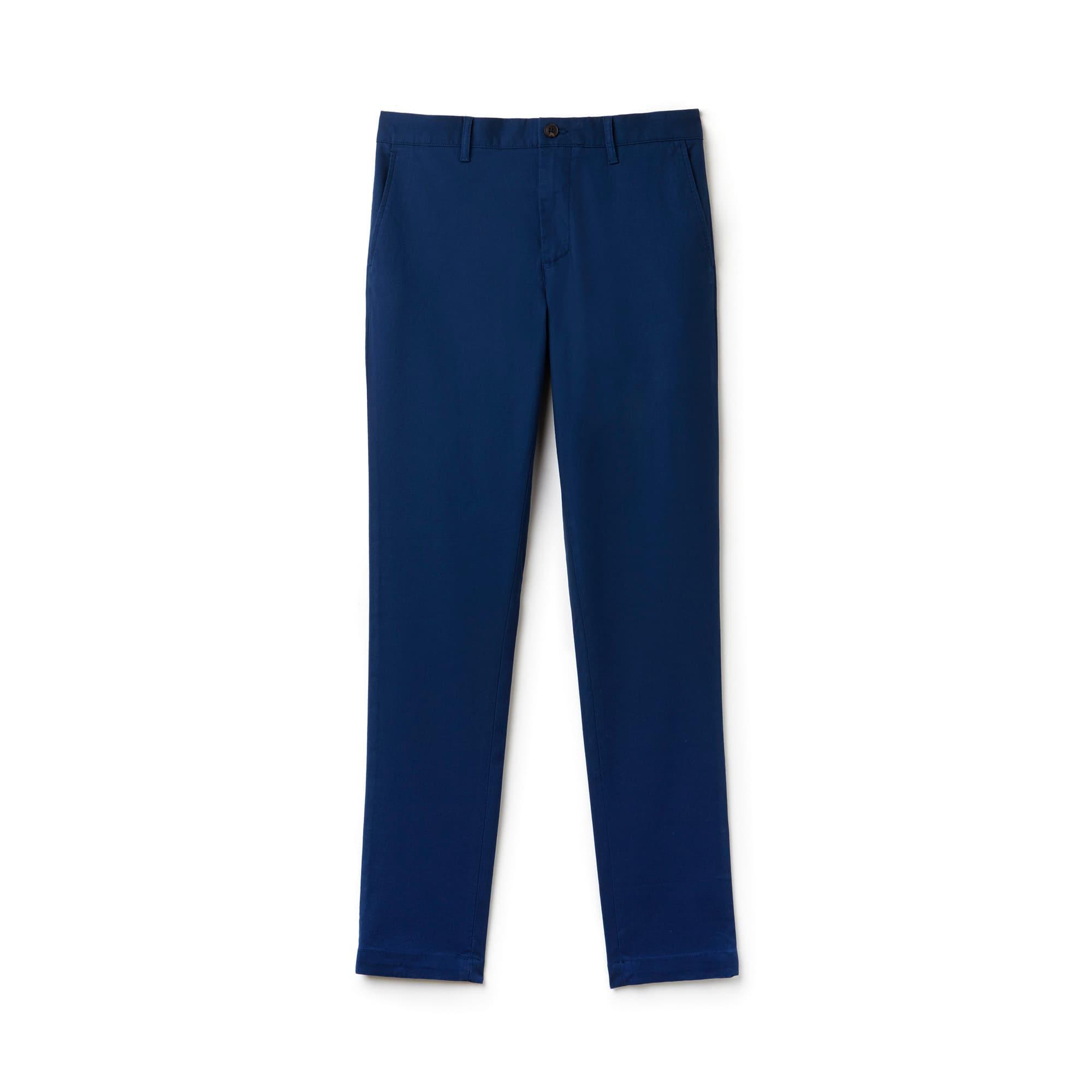 Men's Slim Fit Stretch Cotton Piqué Chino Pants