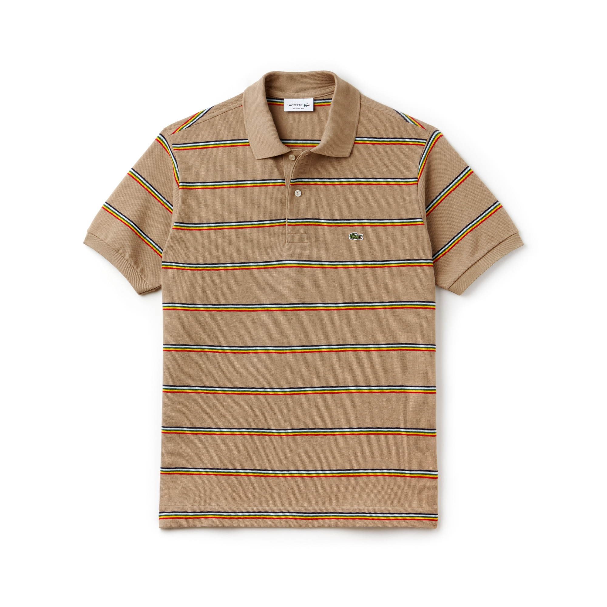 Men's L.12.12 Striped Cotton Piqué Polo