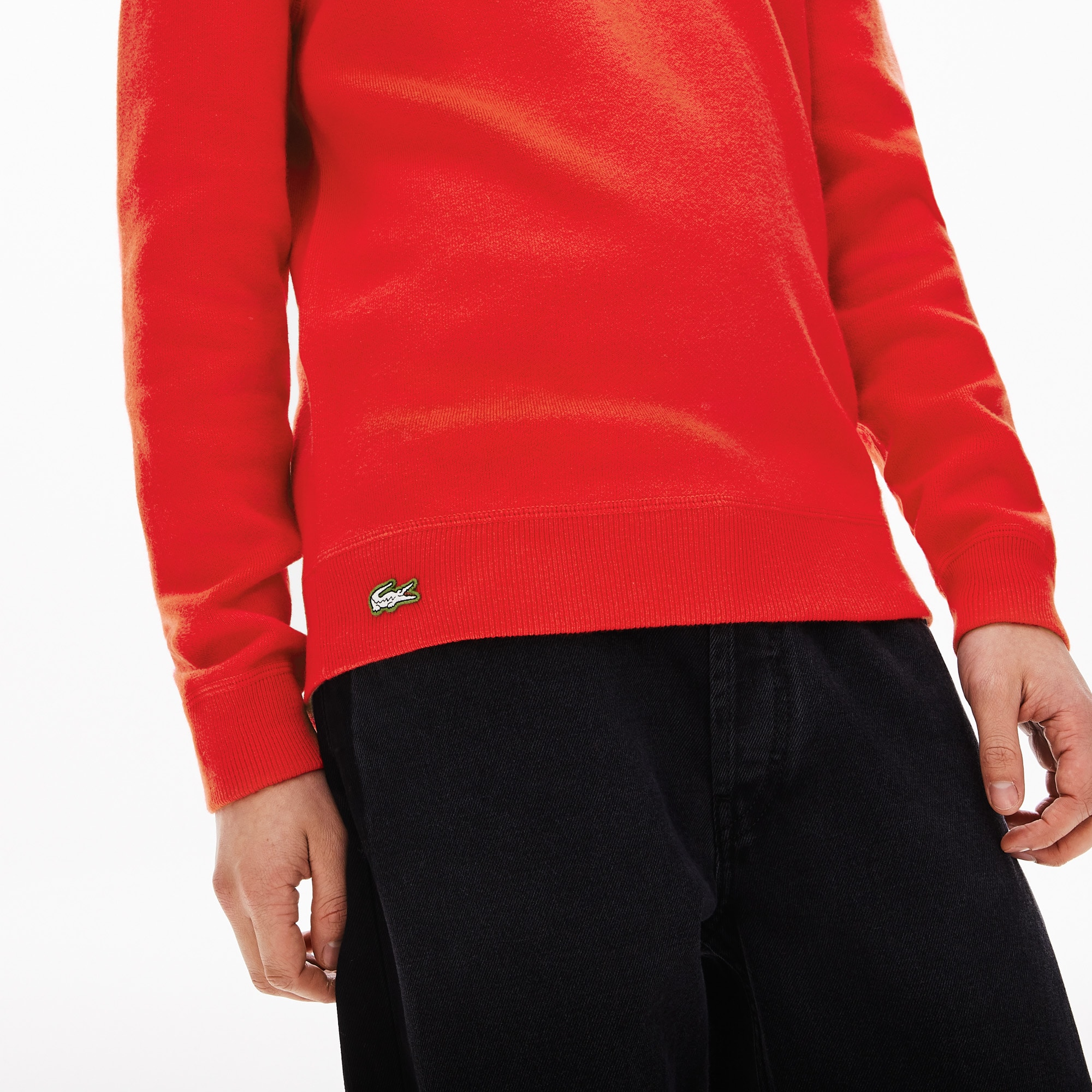 Unisex Lacoste LIVE Crew Neck Cotton And Wool Blend Sweater