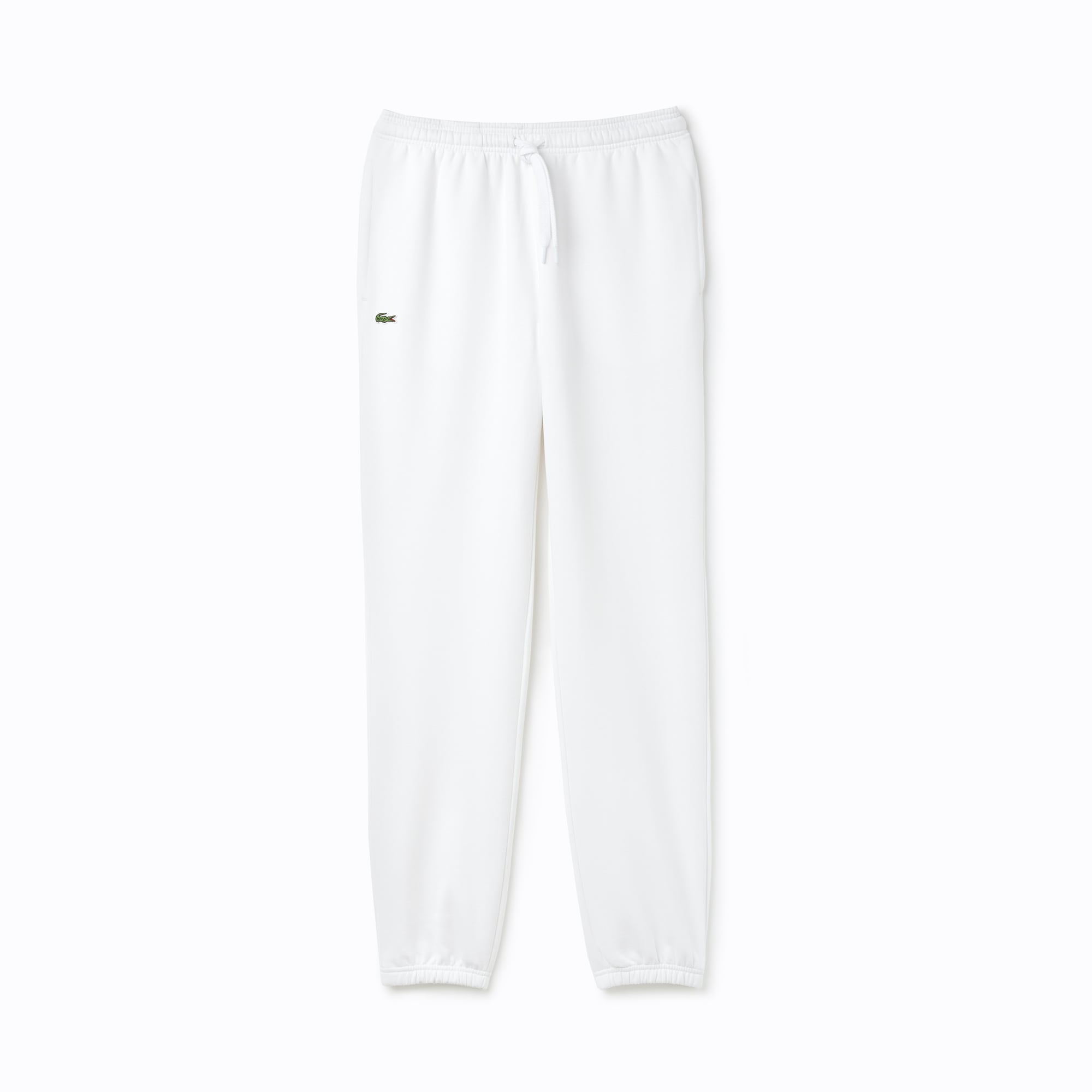 라코스테 Lacoste Men's SPORT Fleece Track Pants,White - 001