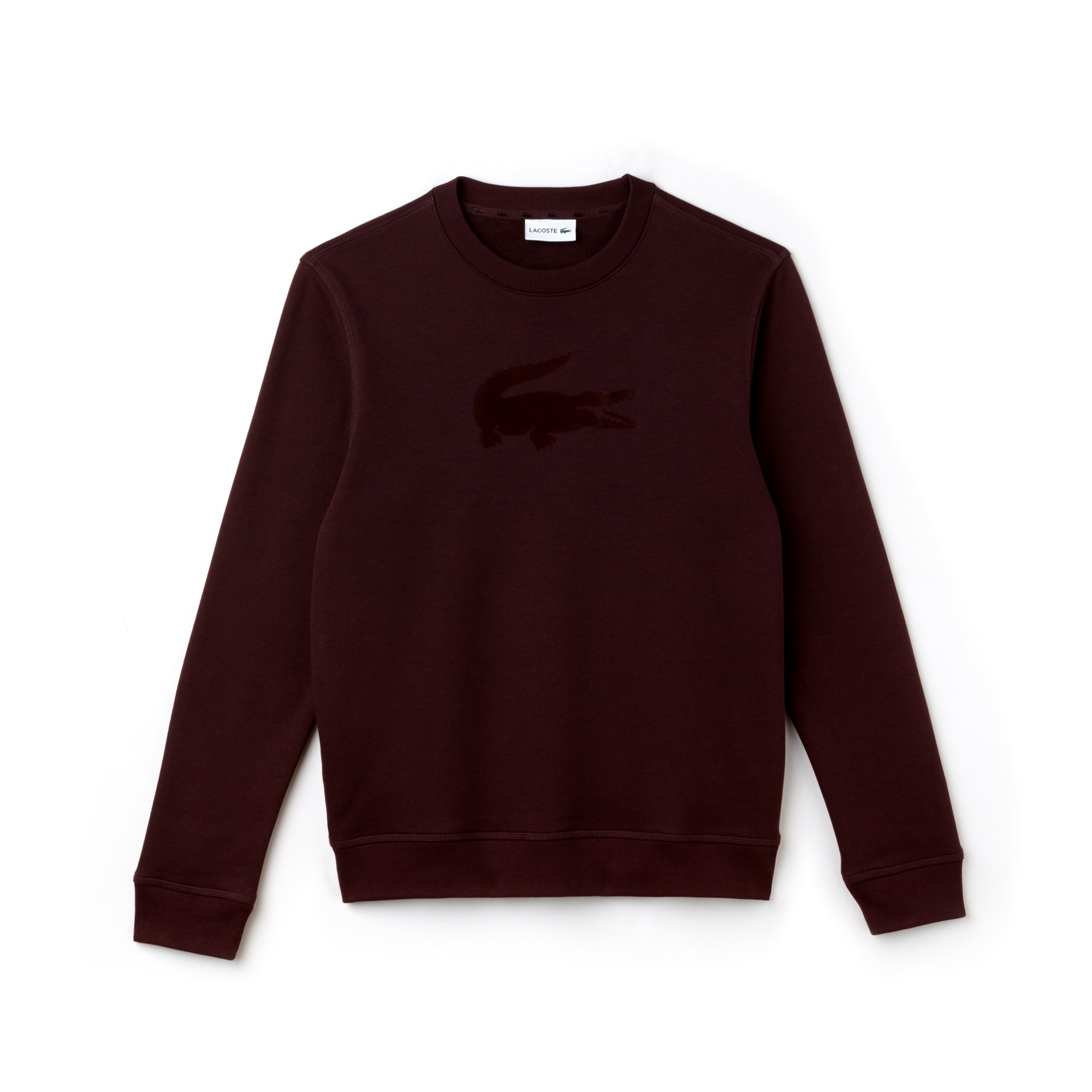 Men's Crew Neck Felt Crocodile Fleece Sweatshirt