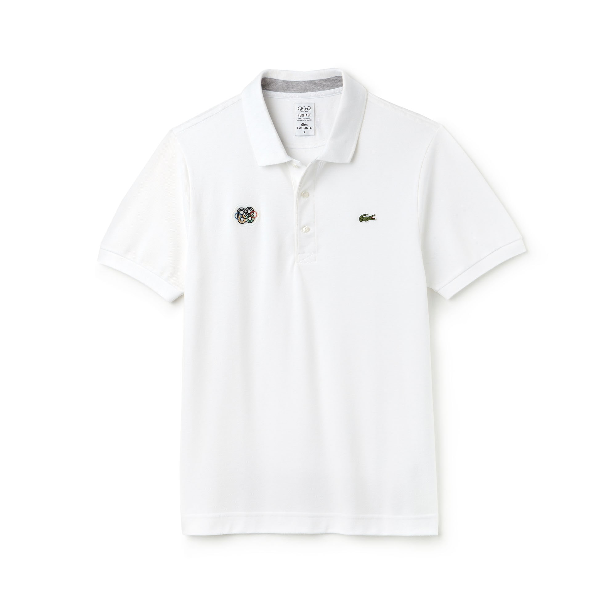 Polo Olympic Heritage Collection by Lacoste en petit piqué uni