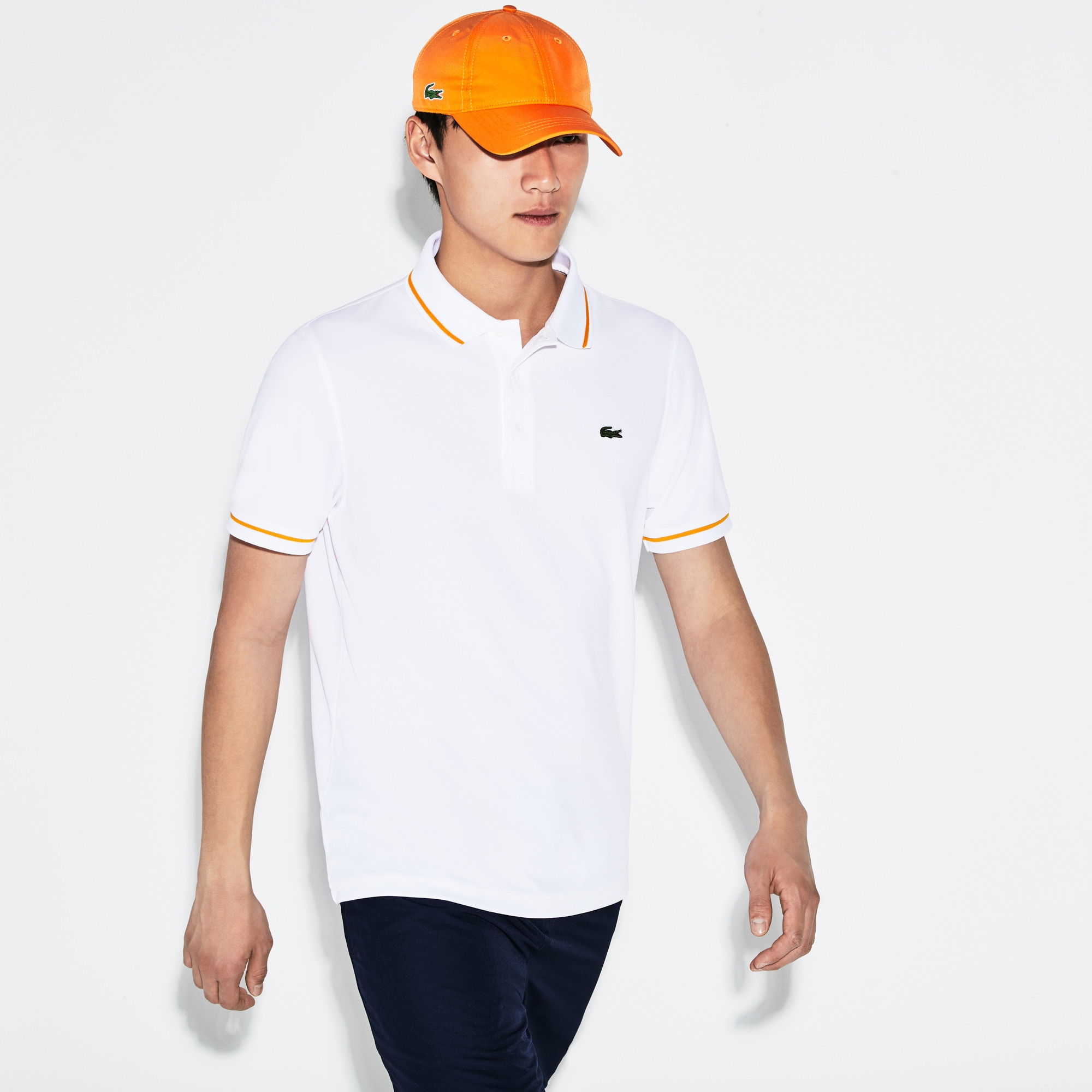 7160988cc9 Men's SPORT Tennis Piped Technical Piqué Polo Shirt | LACOSTE