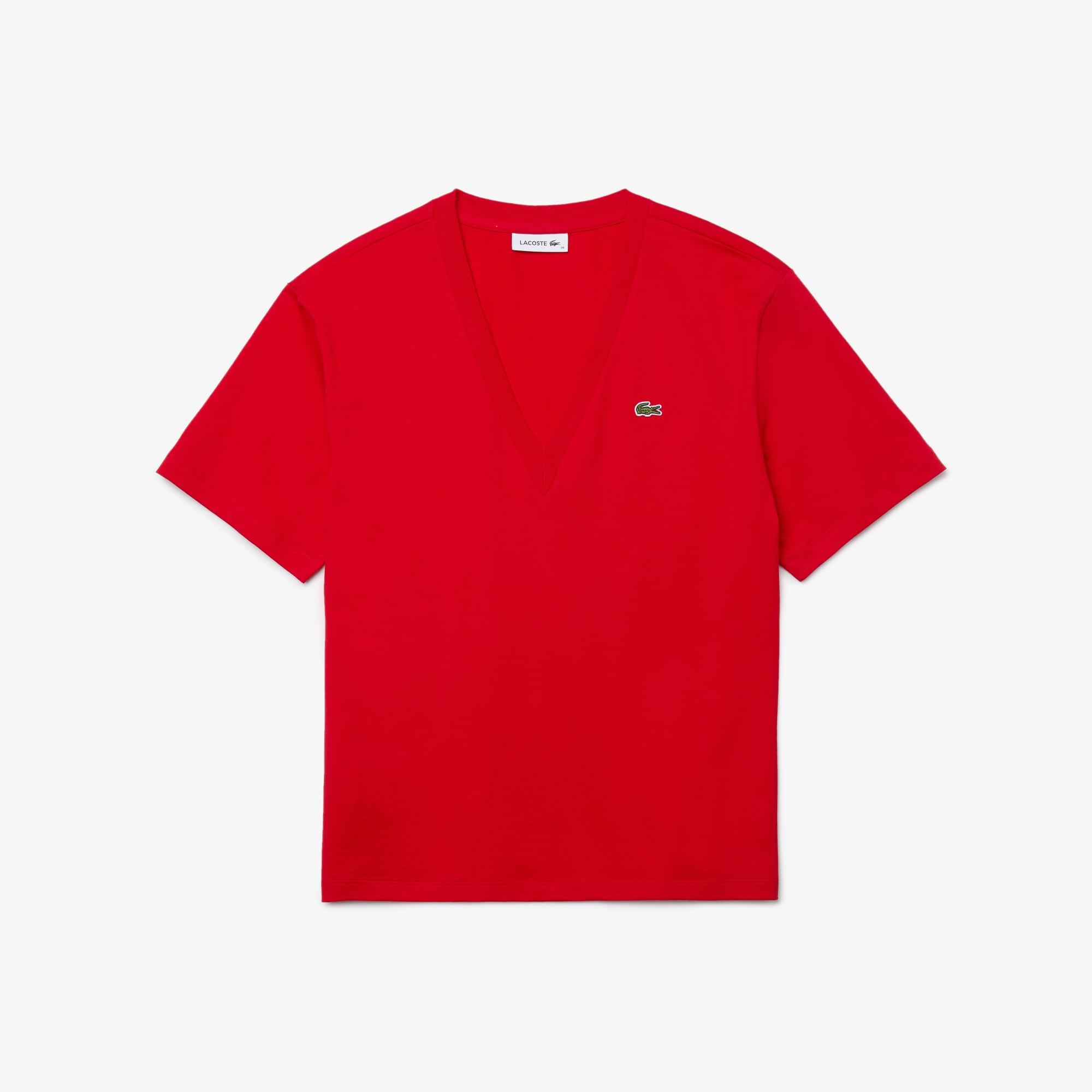 Lacoste WOMEN'S V-NECK PREMIUM COTTON T-SHIRT