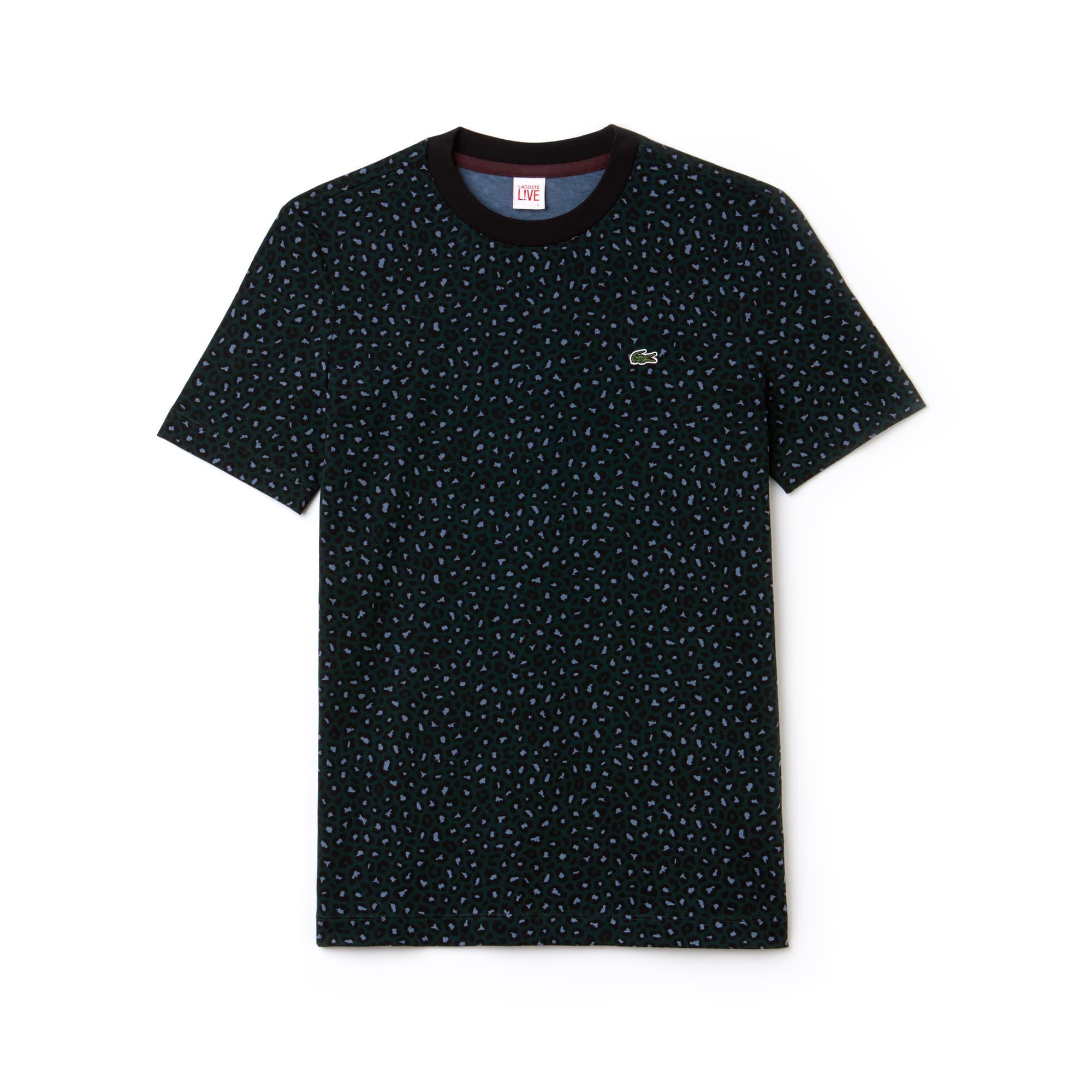 Women's LIVE Crew Neck Leopard Print Jersey T-shirt