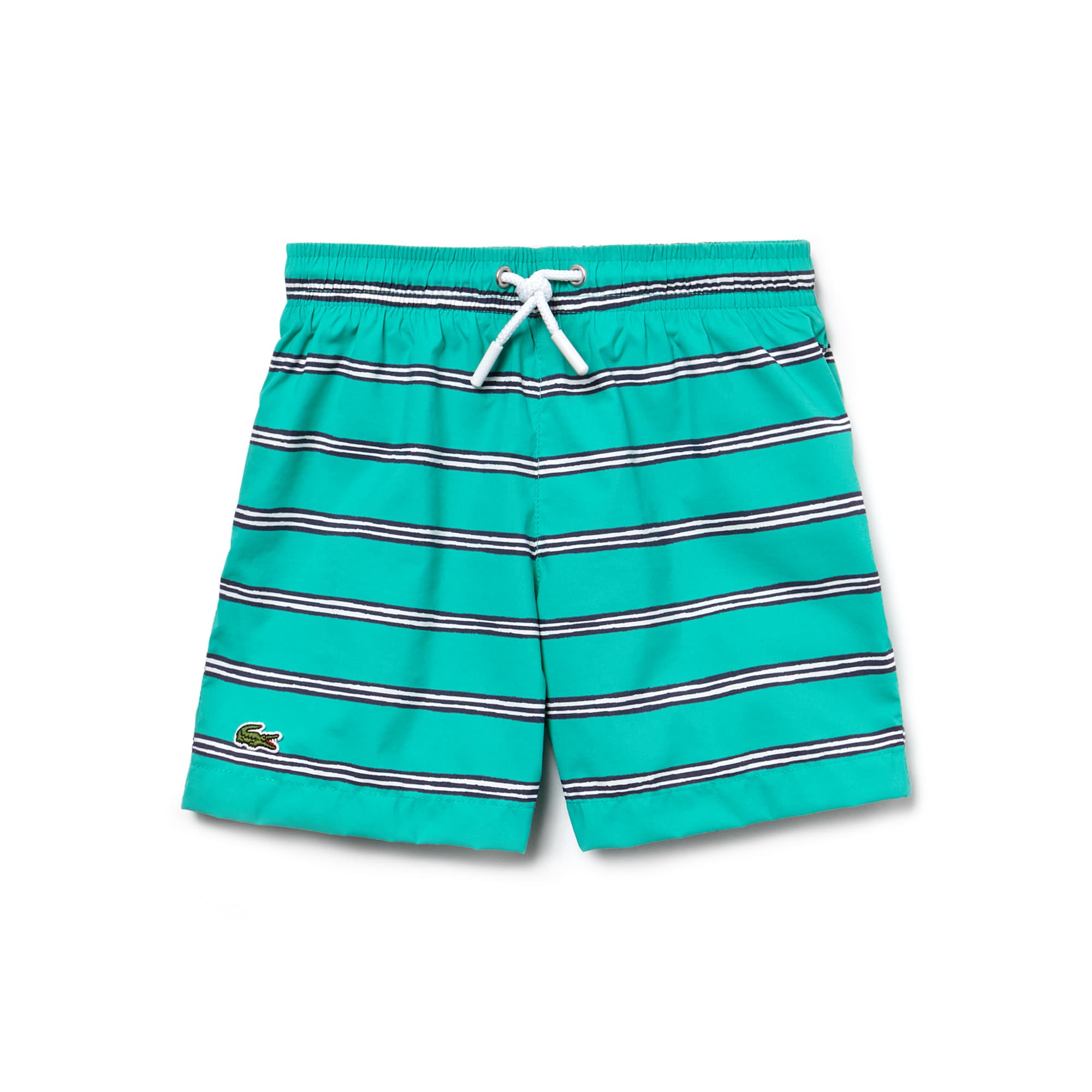 Boys' Striped Canvas Swimming Trunks