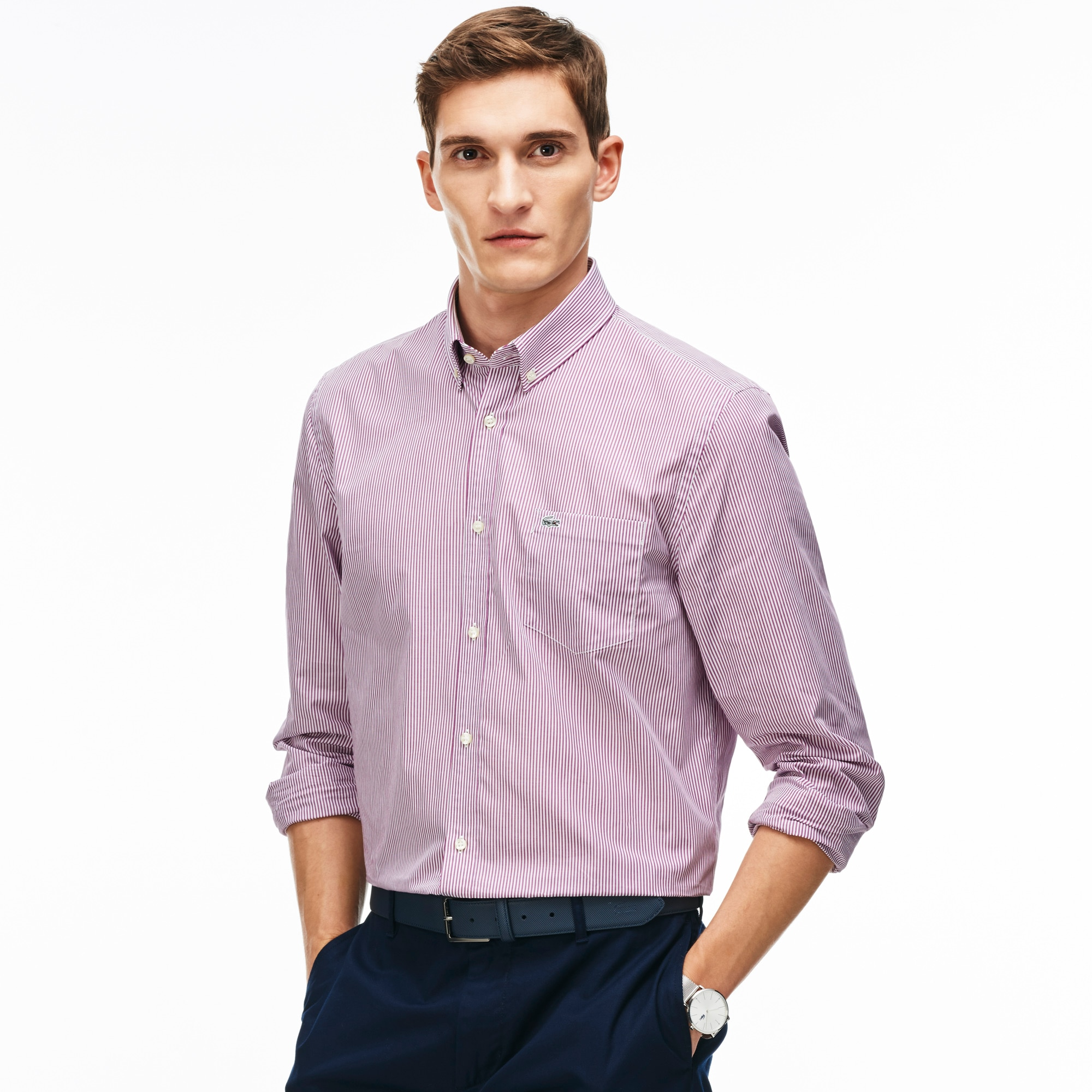 Men's Regular Fit Striped Shirt