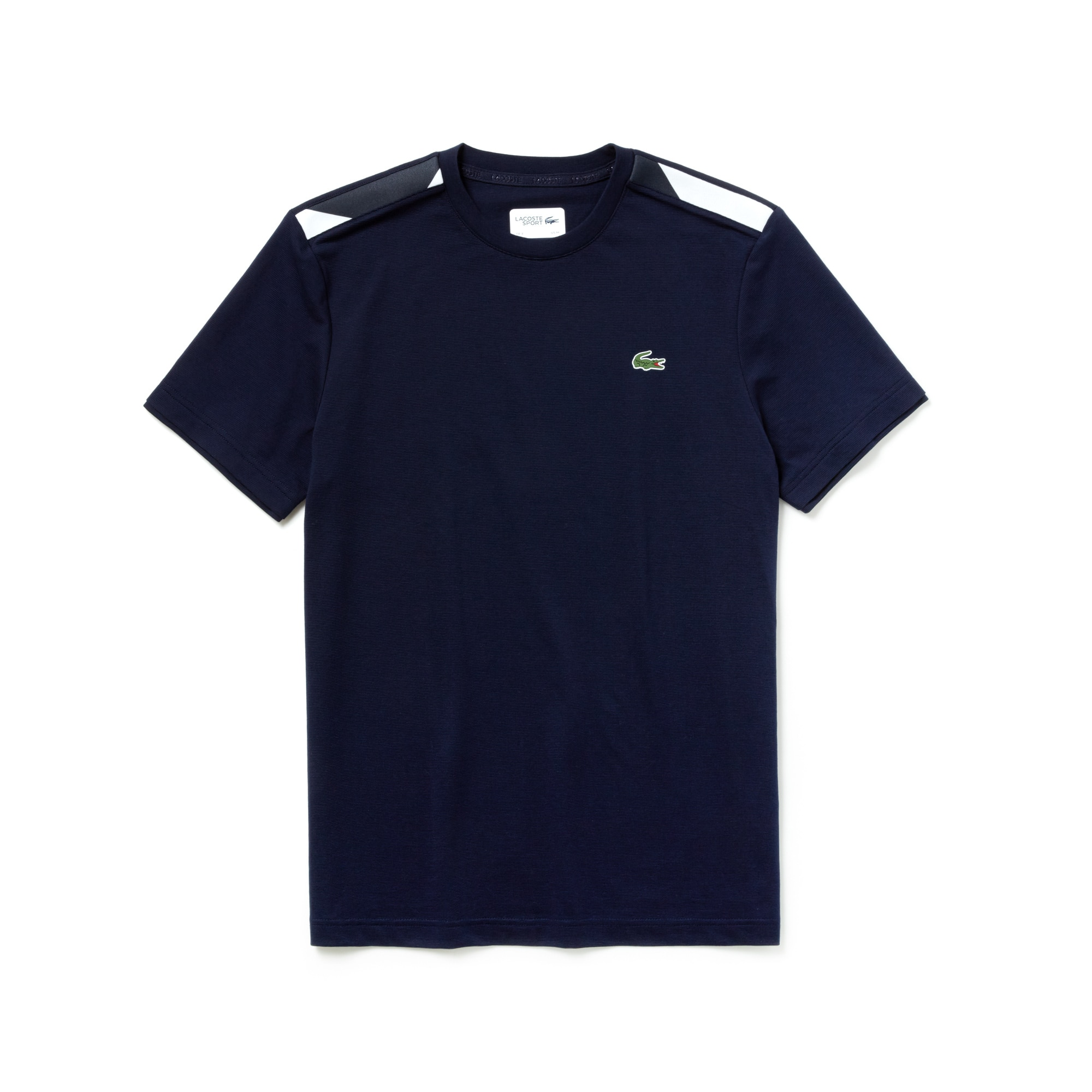 Men's SPORT Contrast Accents Cotton Tennis T-shirt
