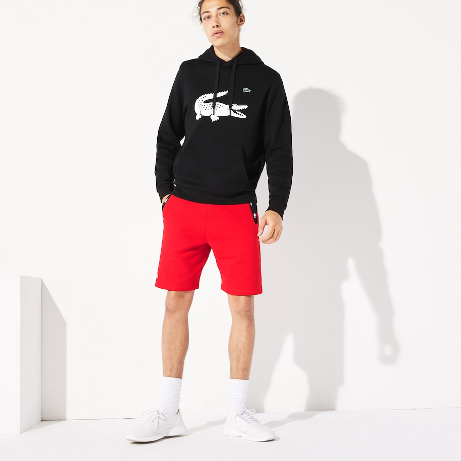 Men's SPORT Crocodile Striped Colorblock Fleece Shorts