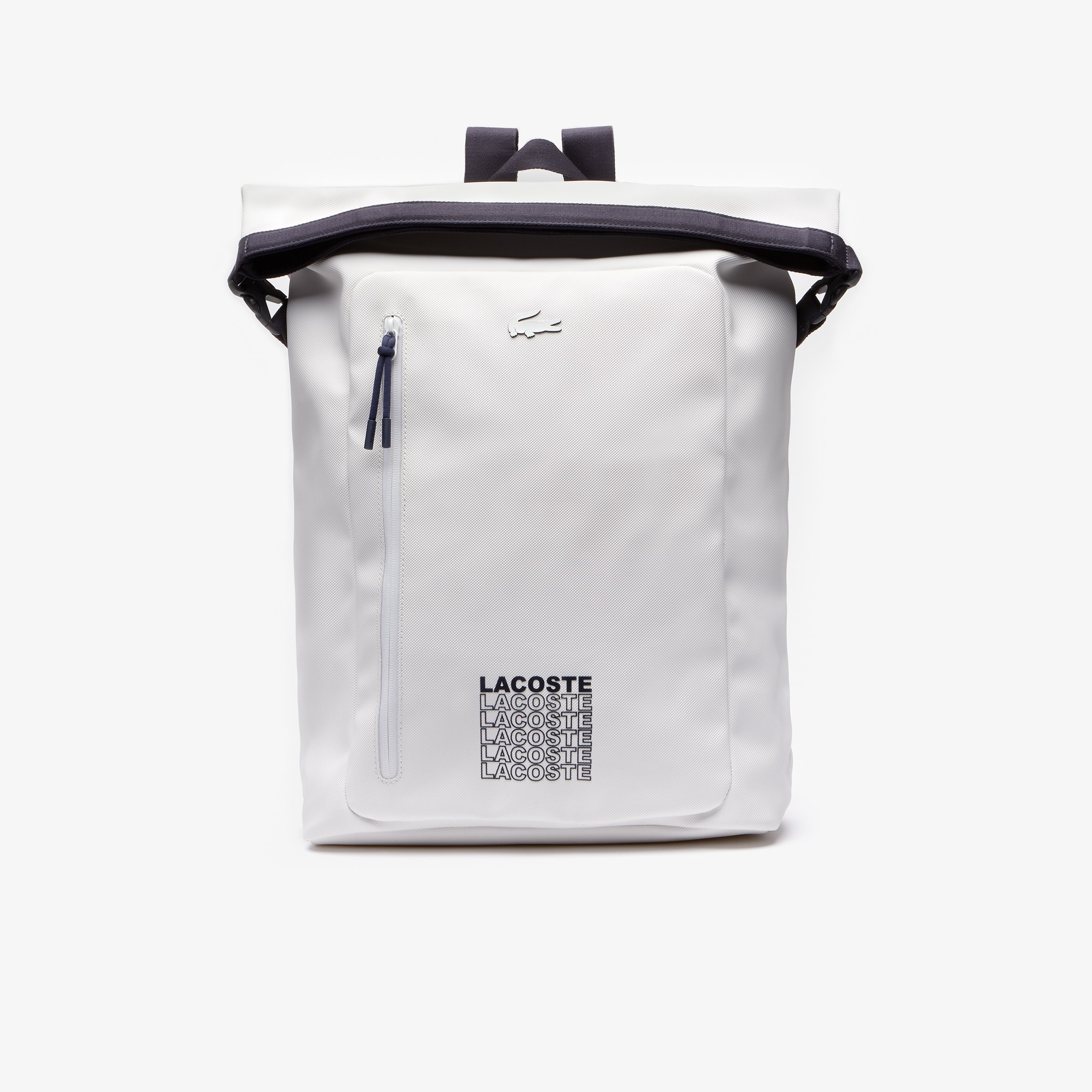 라코스테 L.12.12 컨셉 백팩 Lacoste Mens L.12.12 Concept Backpack,WHITE PEACOAT