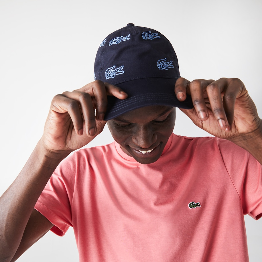 Men's Embroidered-Croc Cotton Cap