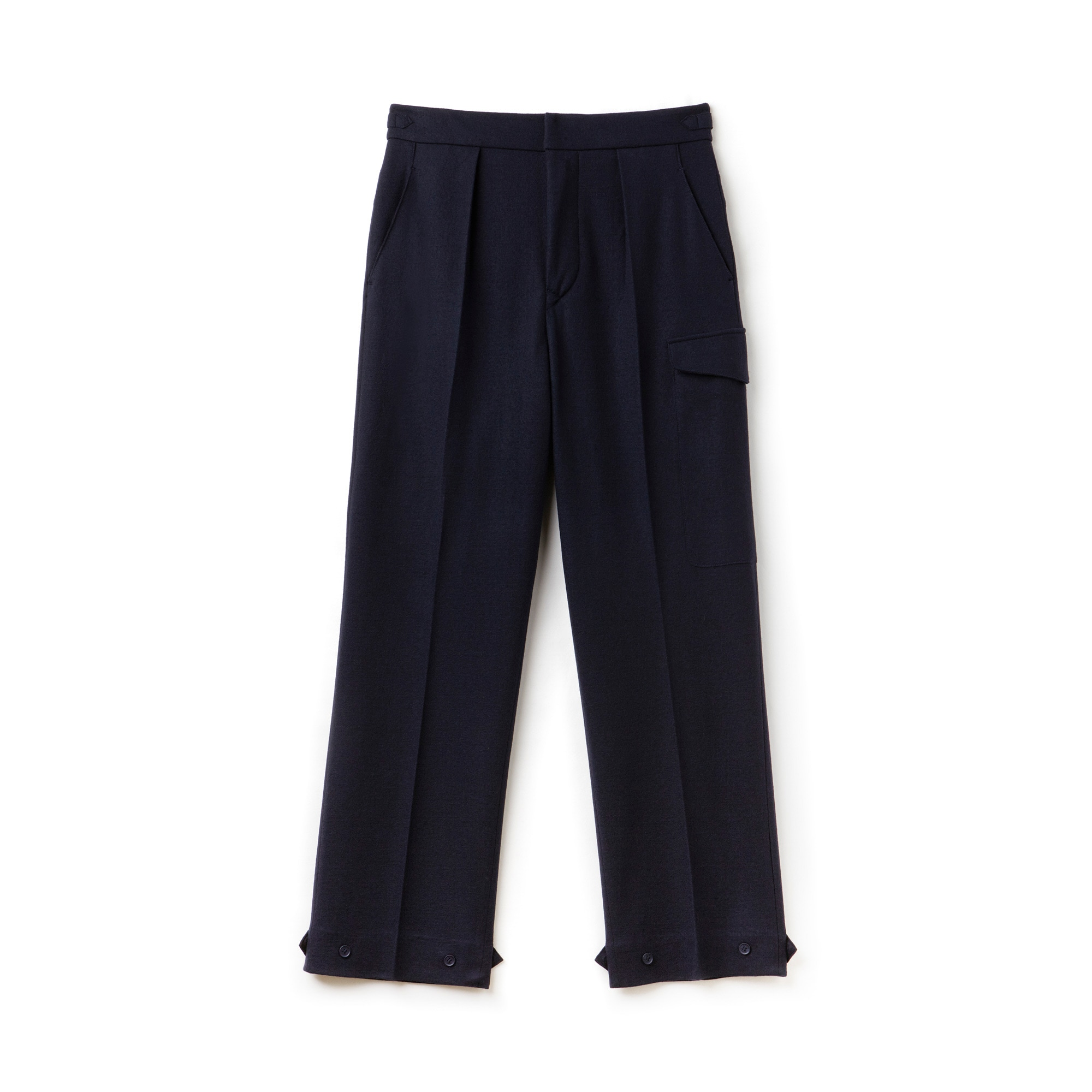 Men's Fashion Show Wide Fit Wool Interlock Knit Pants