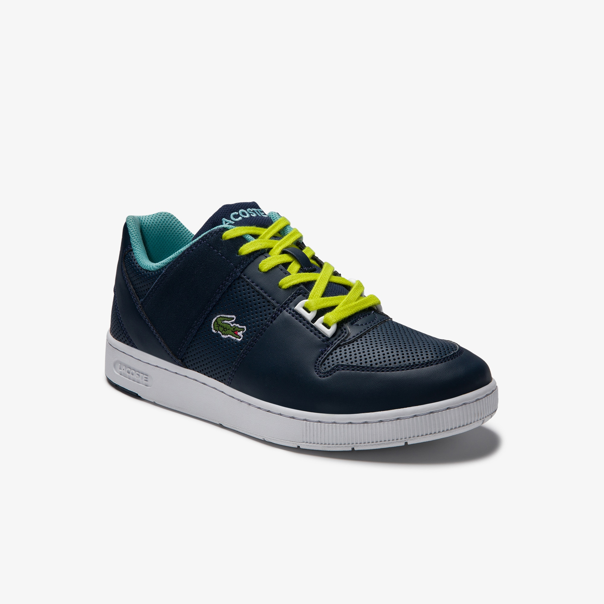 Lacoste Juniors Thrill Synthetic and Suede Trainers