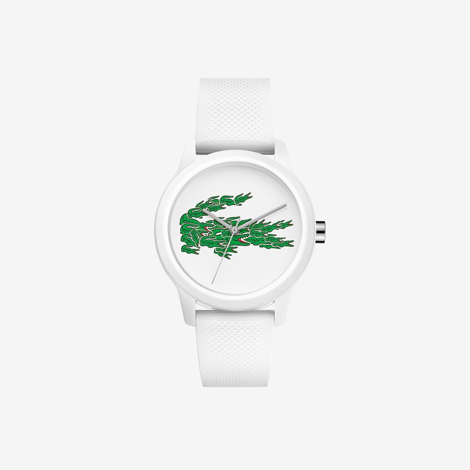 Women's Lacoste 12.12 Watch with White Silicone Petit Piqué Strap