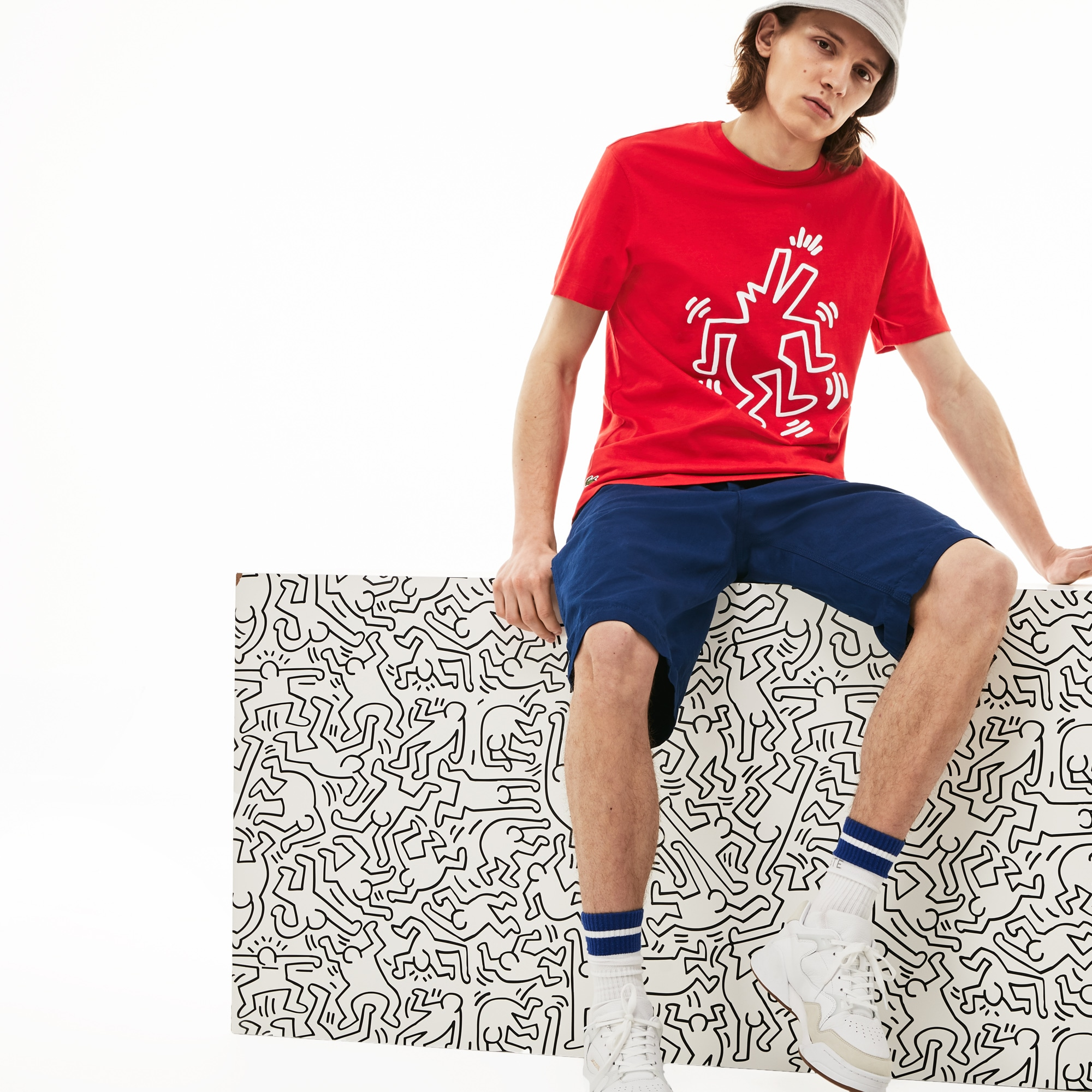 Men's Keith Haring Design Cotton T-shirt