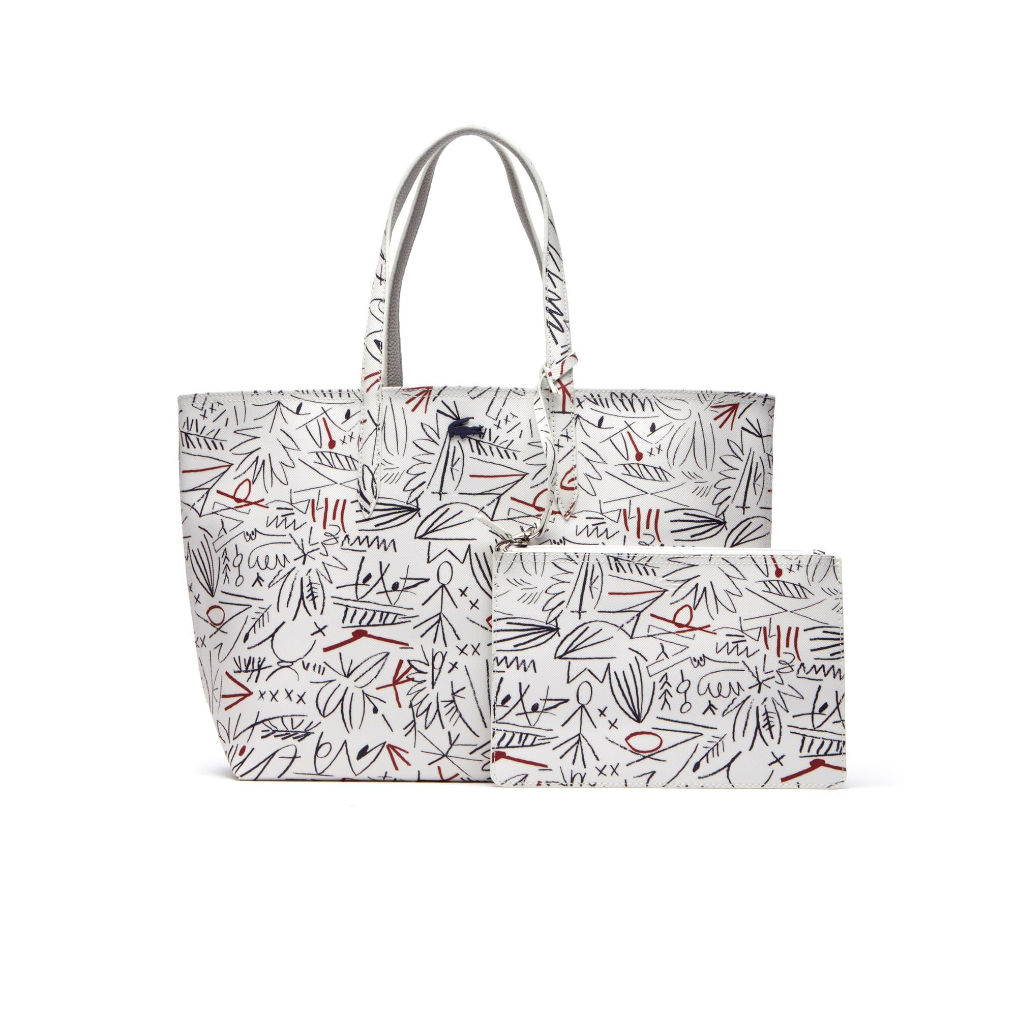 Women's Anna Reversible Bicolor Egyptian Print Tote Bag