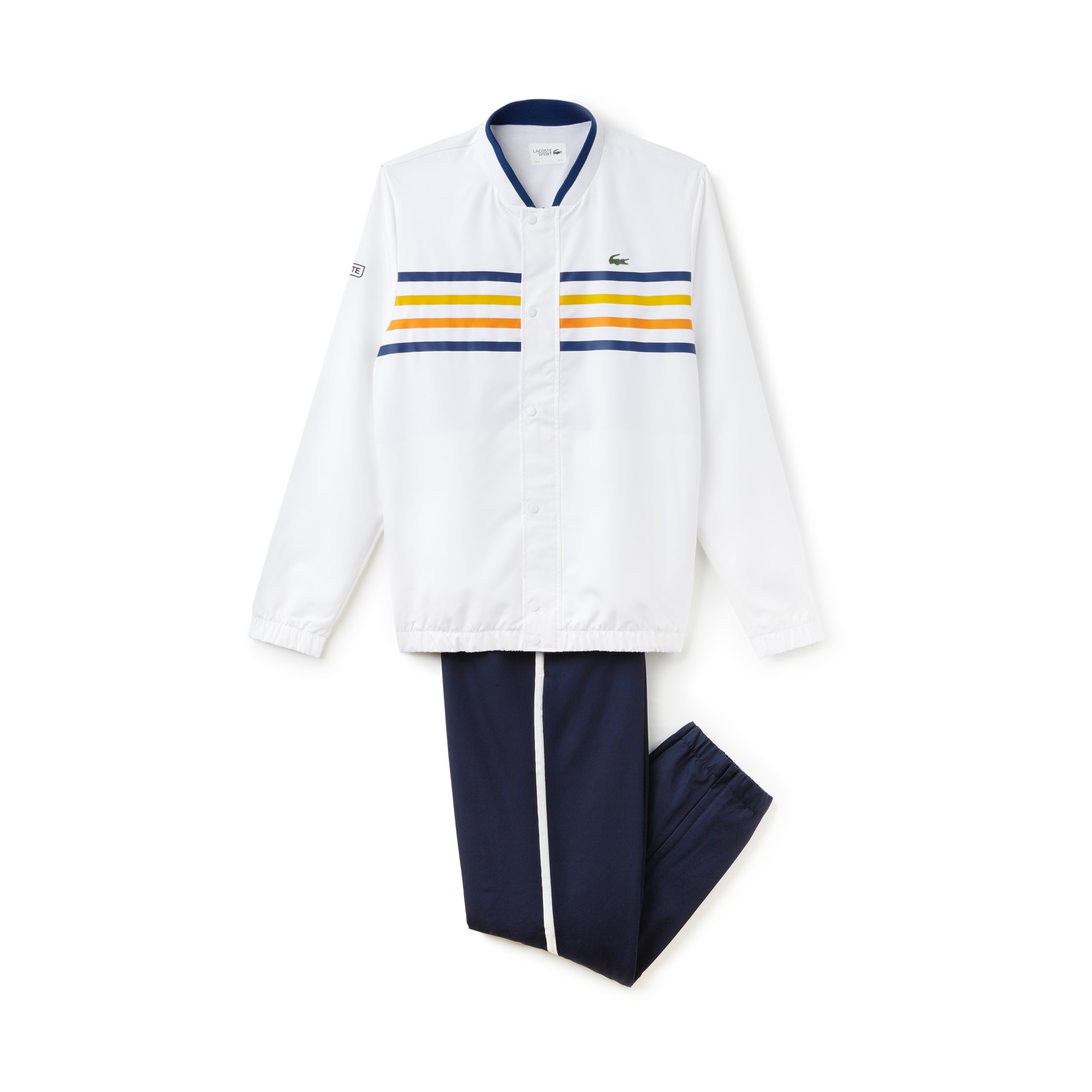 Men's SPORT Colored Bands Tennis Tracksuit