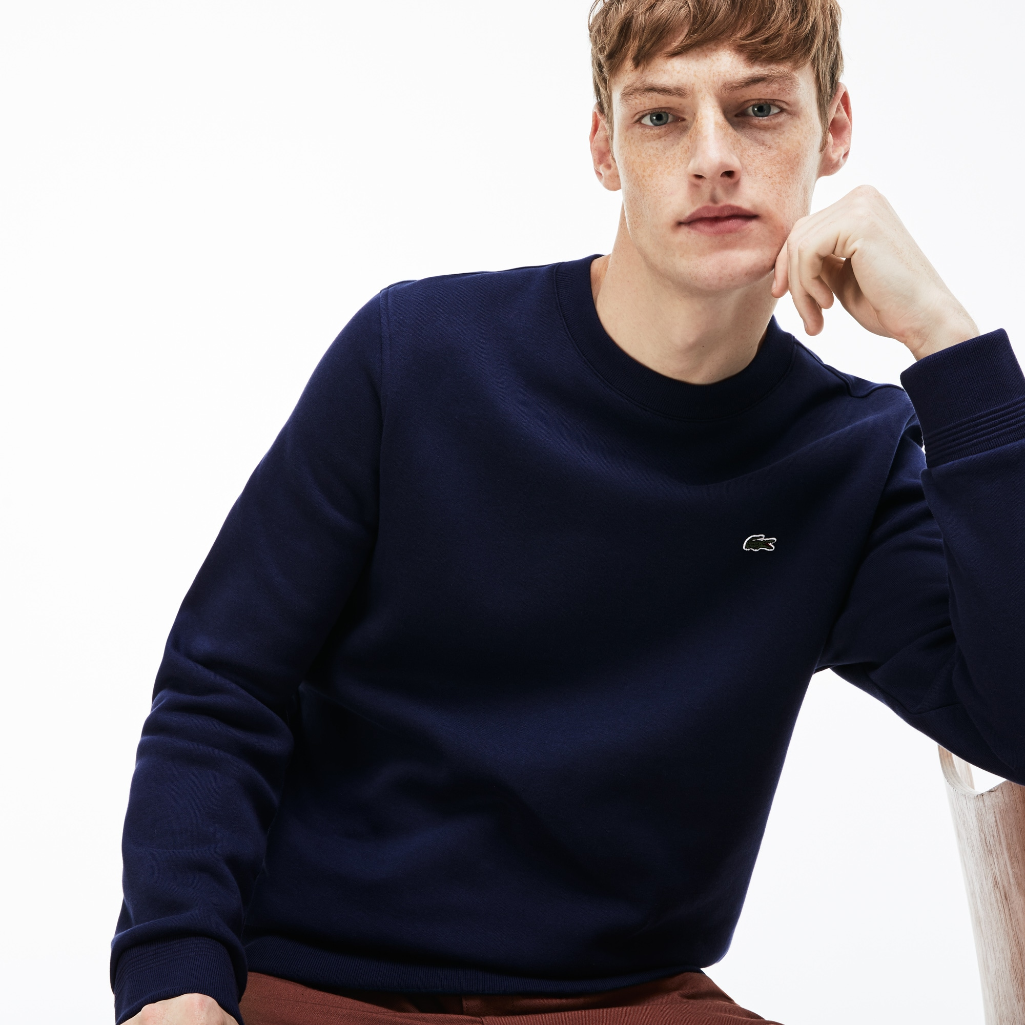 Men's Crew Neck Contrast Sweatshirt