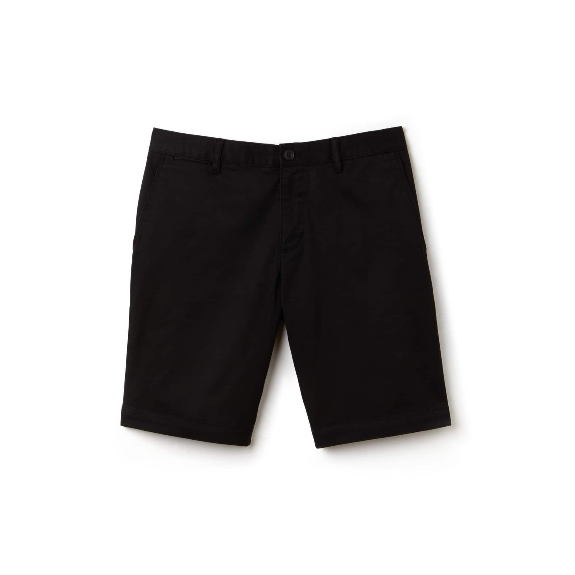 Men's Slim Fit Stretch Gabardine Bermuda Shorts