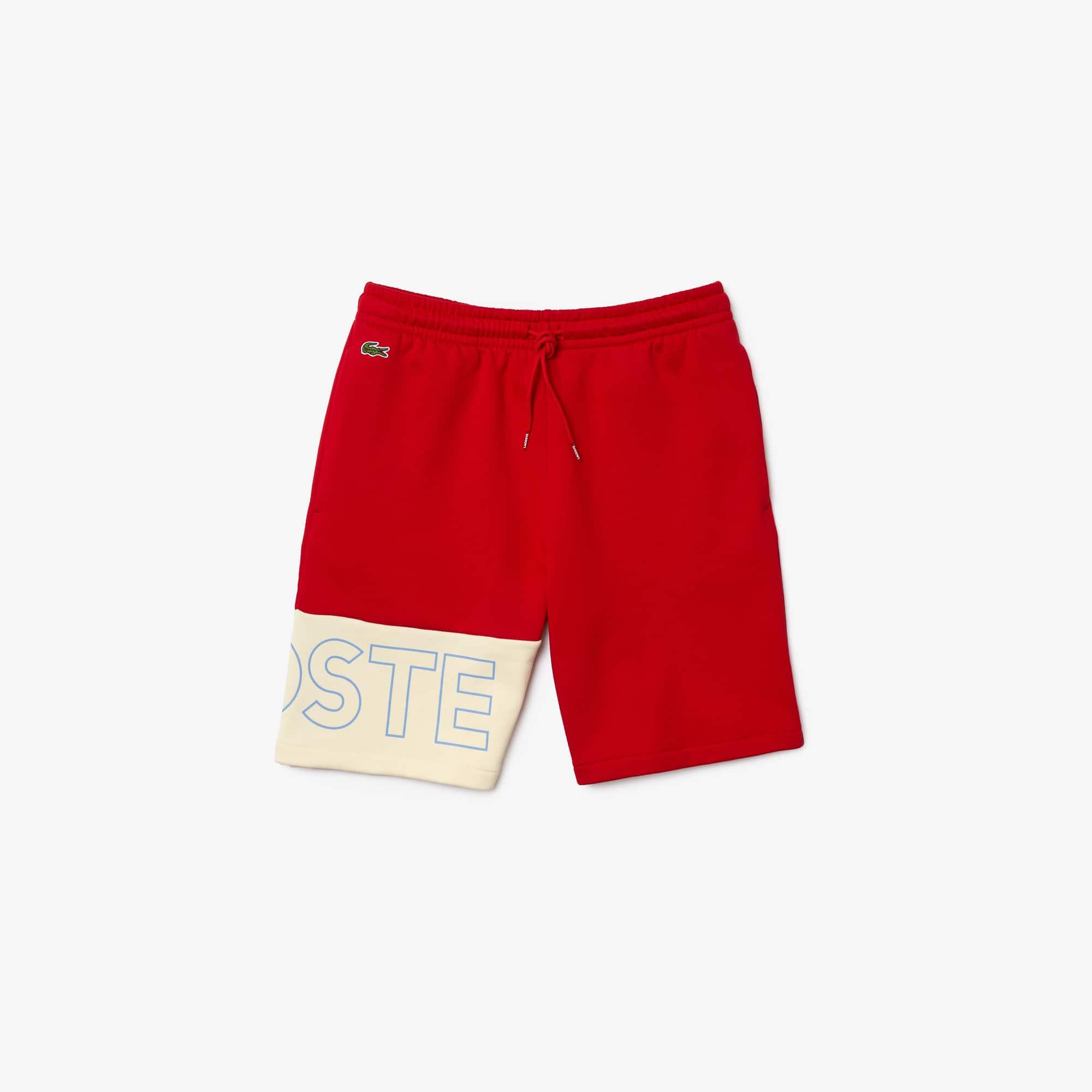 Lacoste Rear Pocket Fleece Shorts Pitch BNWT