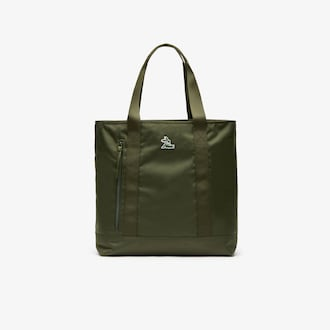 라코스테 Lacoste Mens Neocroc Vertical Canvas Tote Bag,CYPRESS - B94
