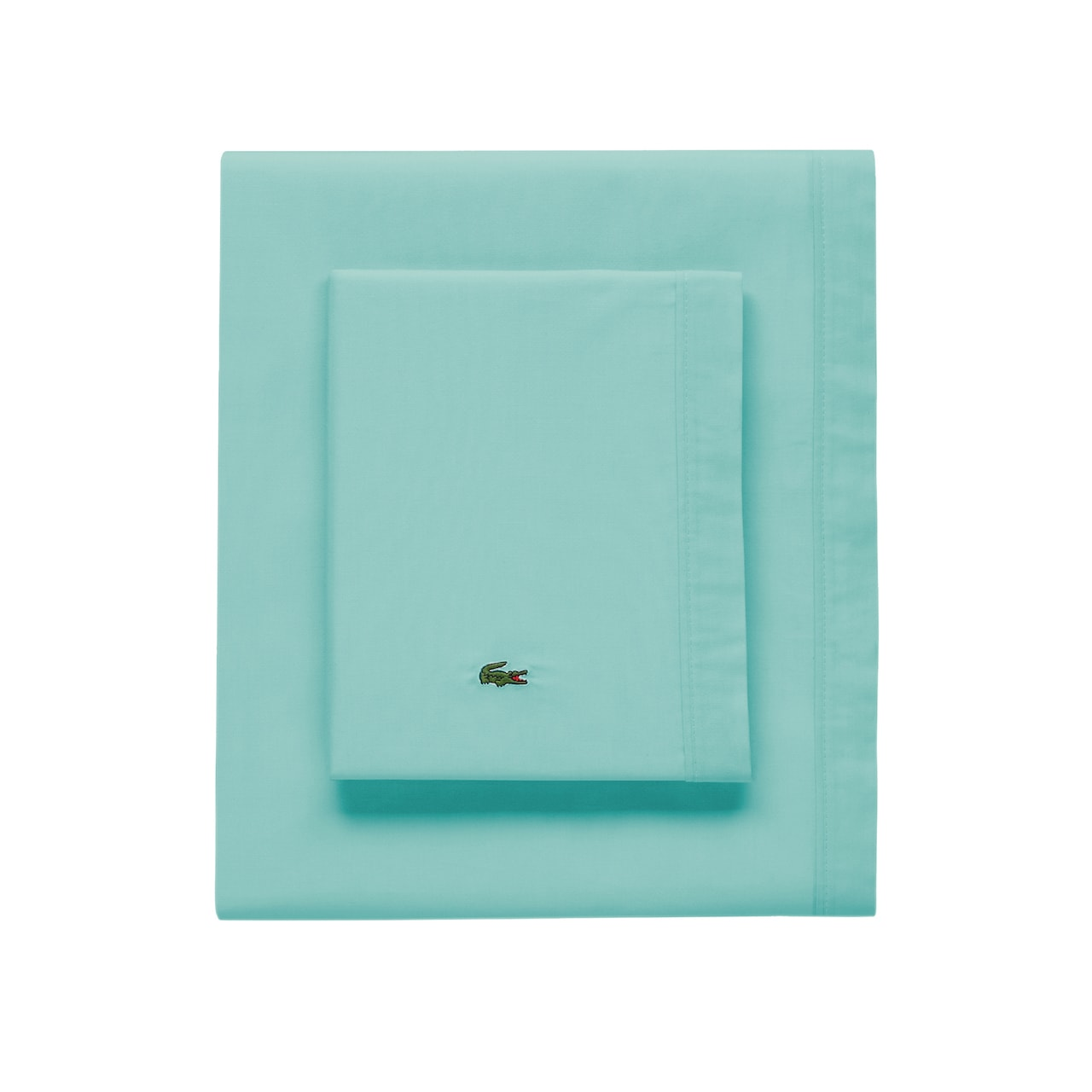 Percale Water Blue Standard Pillowcase
