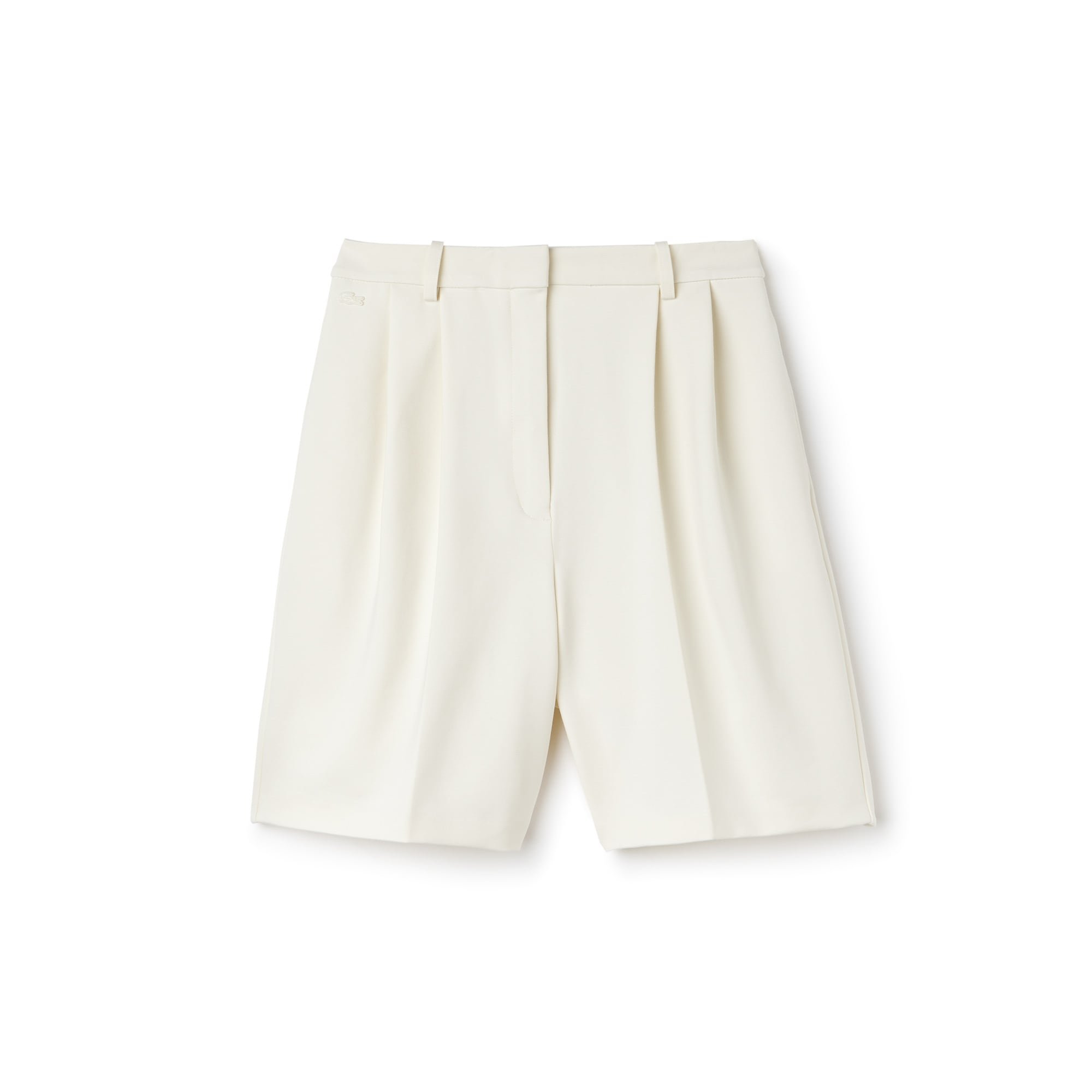 Women's Pleated Milano Knit Bermuda Shorts