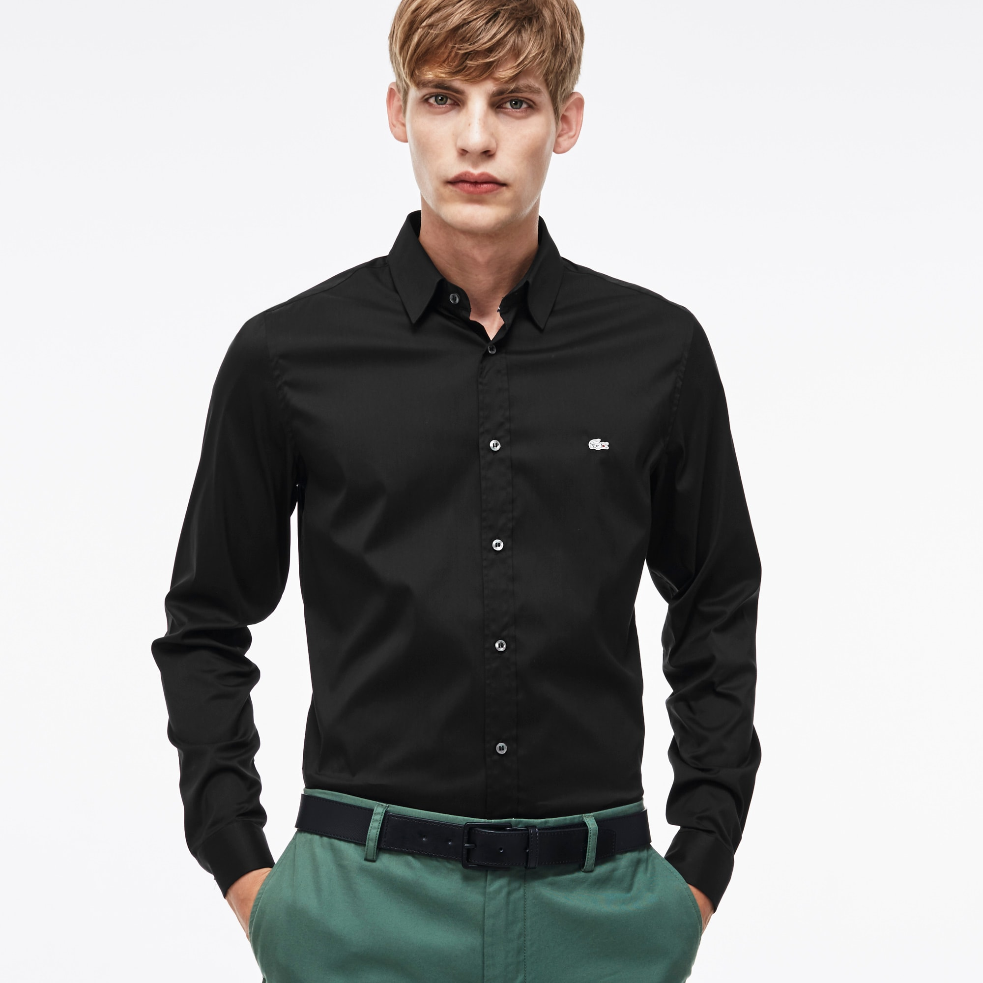Men's Solid Poplin Woven Shirt