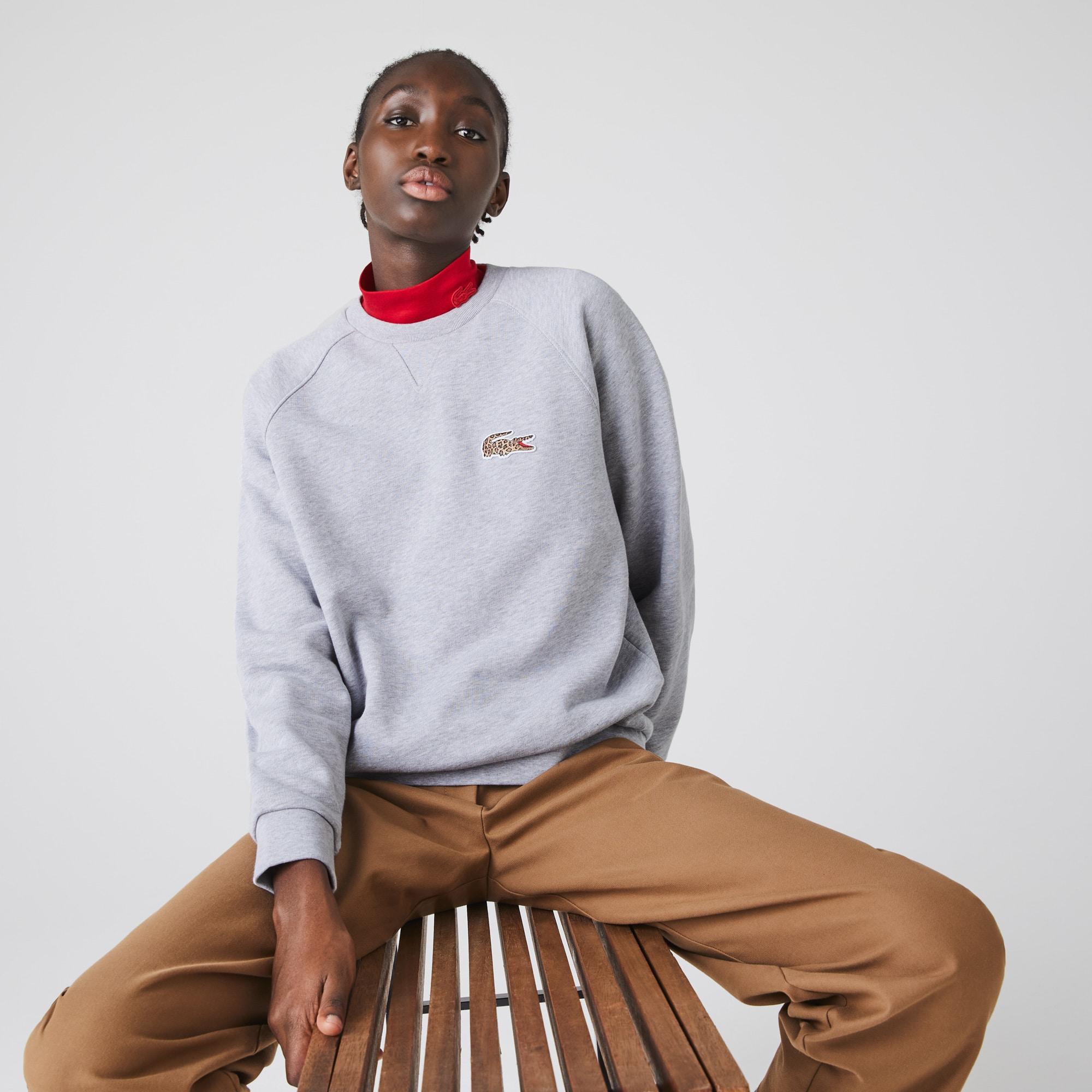 Women's 라코스테 Lacoste x National Geographic Cotton Fleece Sweatshirt