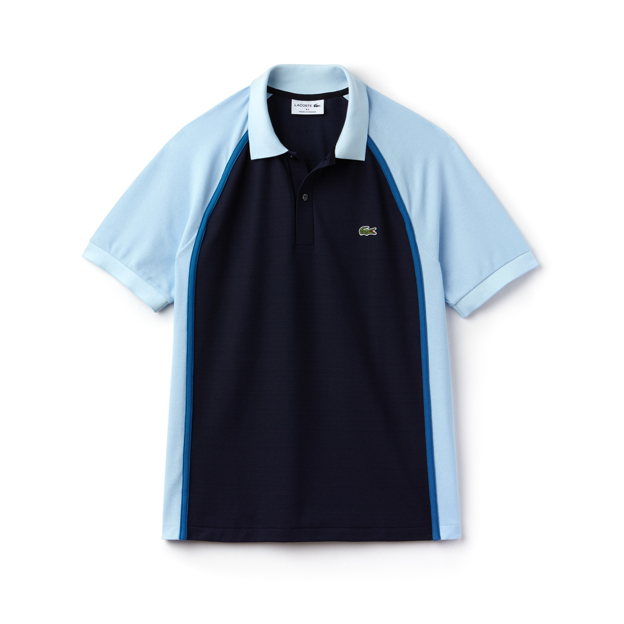 Men's Lacoste Made in France Regular Fit Colorblock Tech Piqué Polo