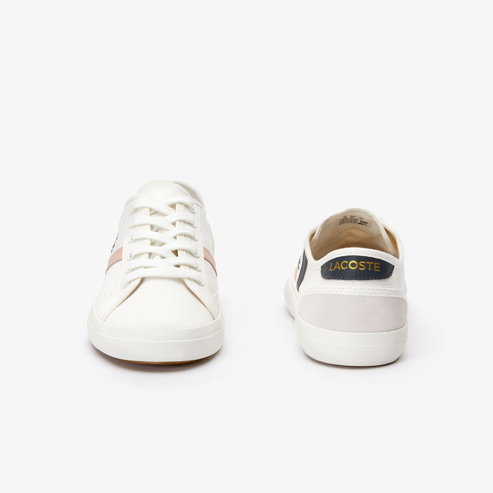 Women's Sideline Pastel Canvas and Leather Trainers