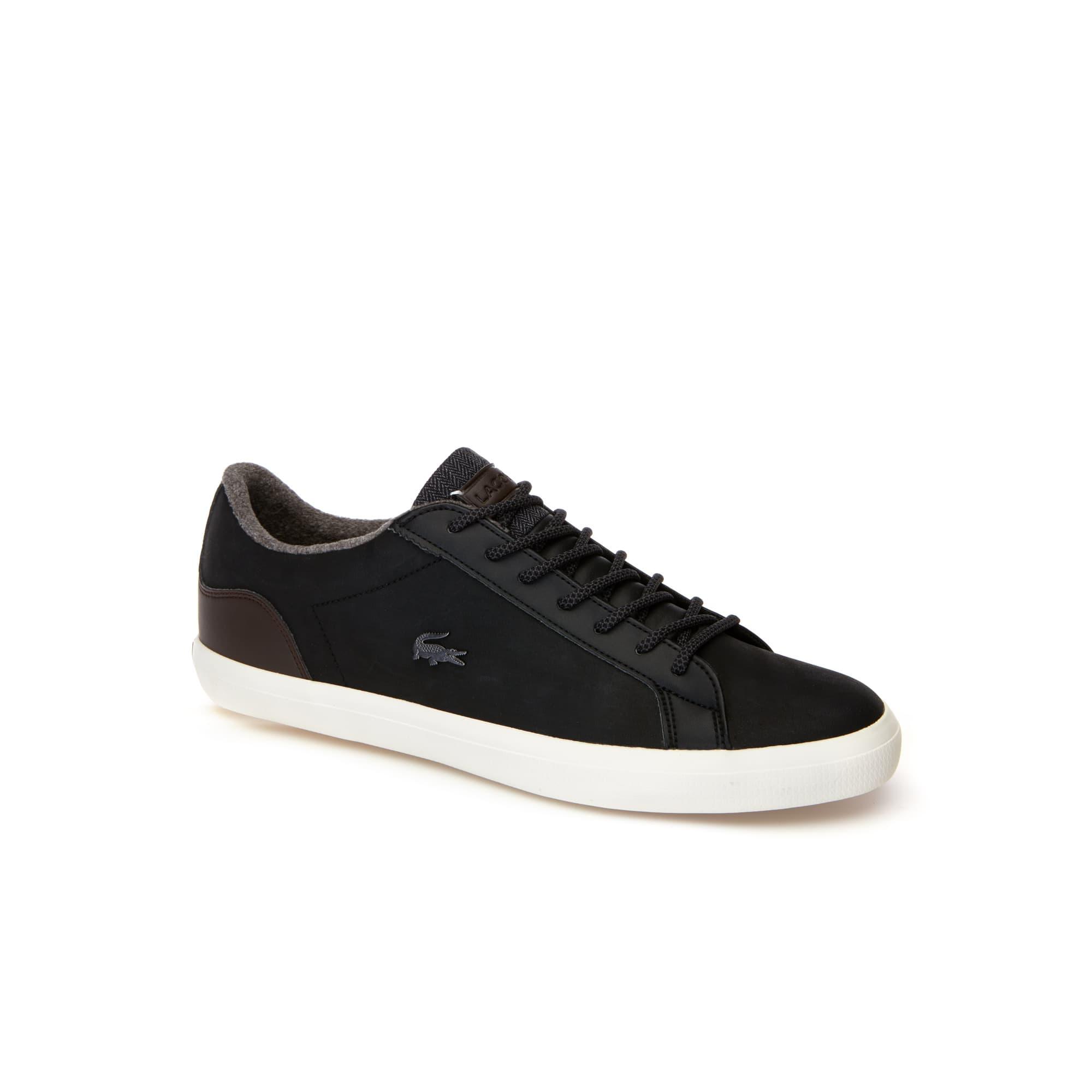 Sneakers Lerond homme en cuir contrastées