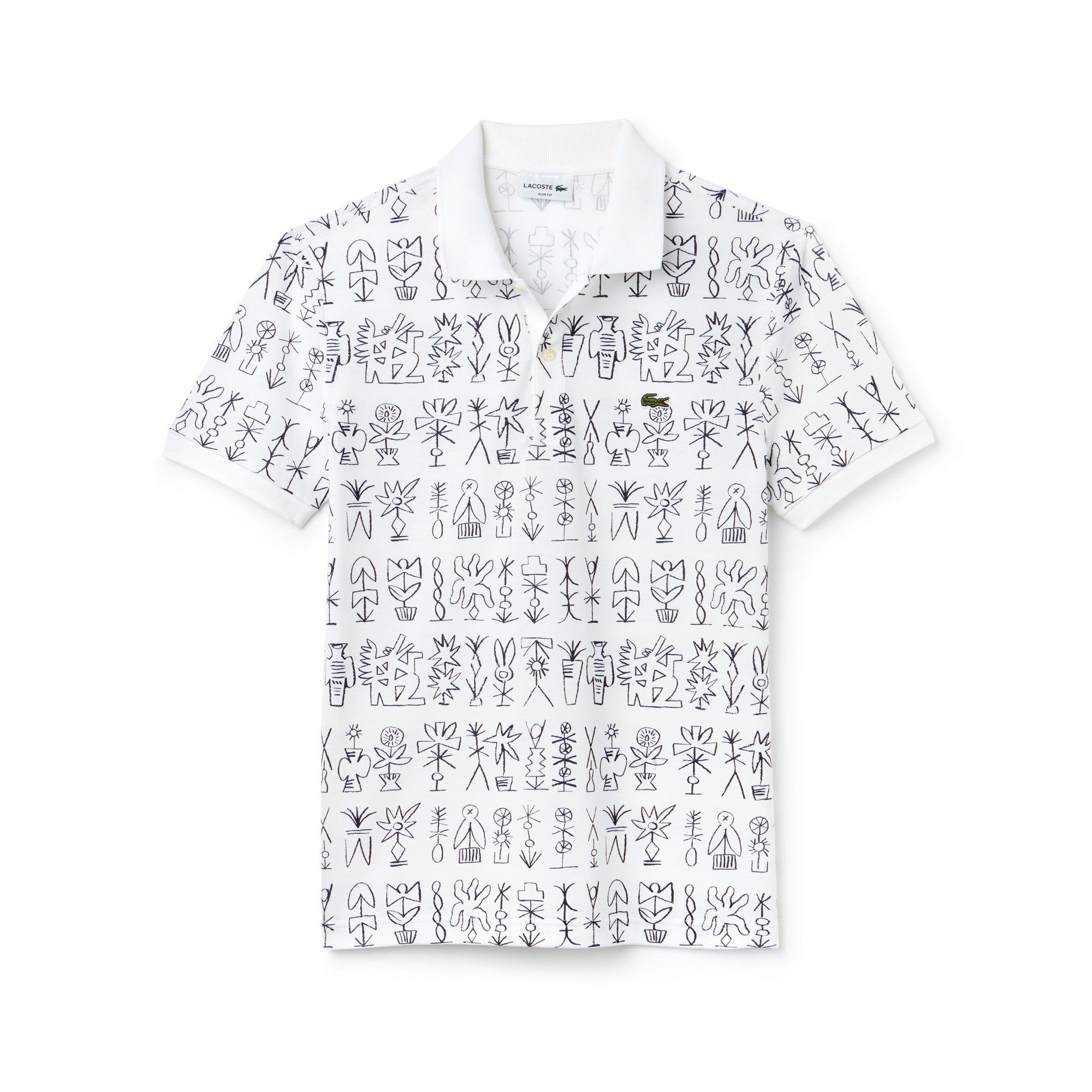 Men's Slim Fit Egyptian Print Piqué Polo