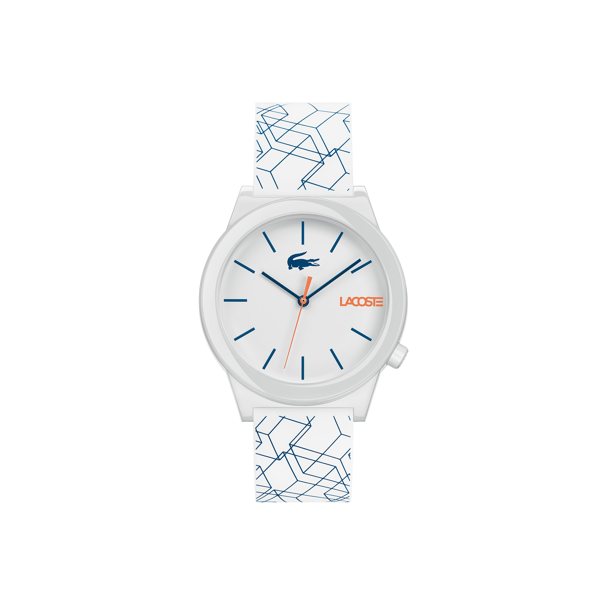 Men's Motion Watch with White Silicone Strap