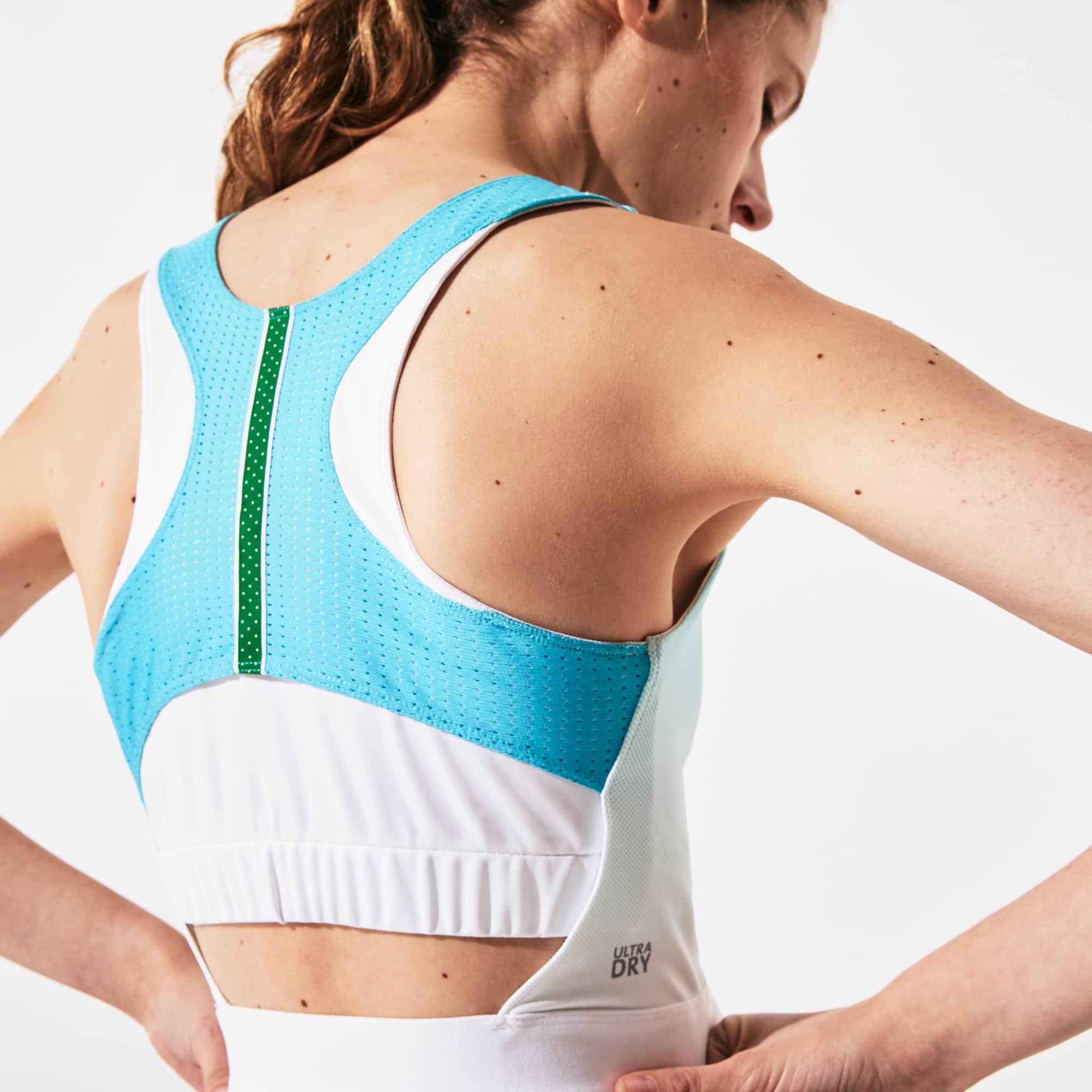 라코스테 스포츠 롤랑가로스 언발 주름 원피스 Lacoste Womens SPORT Roland Garros Asymmetrical Pleated Dress