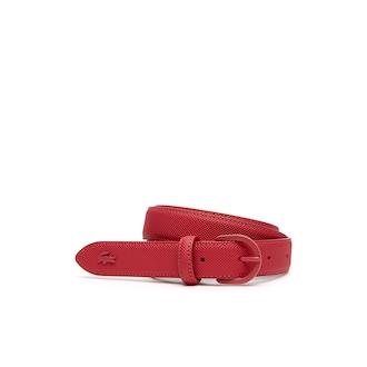 라코스테 우먼 벨트 Lacoste Womens L.12.12 Monochrome Petit Pique Belt,VIRTUAL PINK - 185