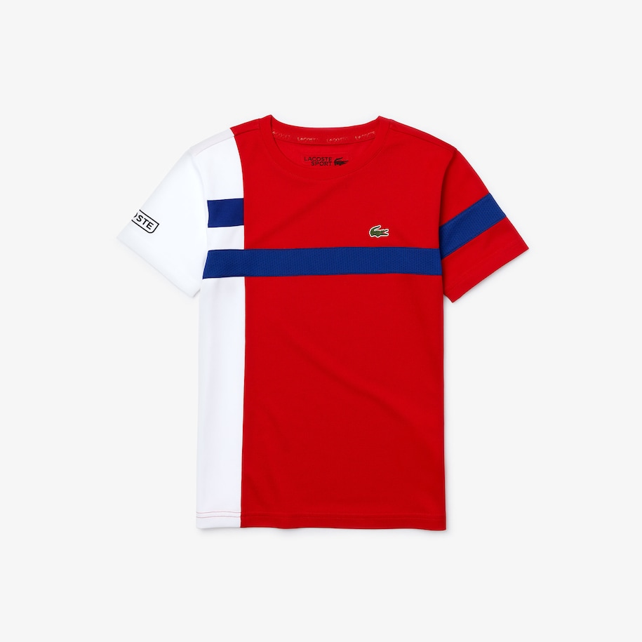 Boys' Lacoste SPORT Breathable Piqué Colourblock T-shirt