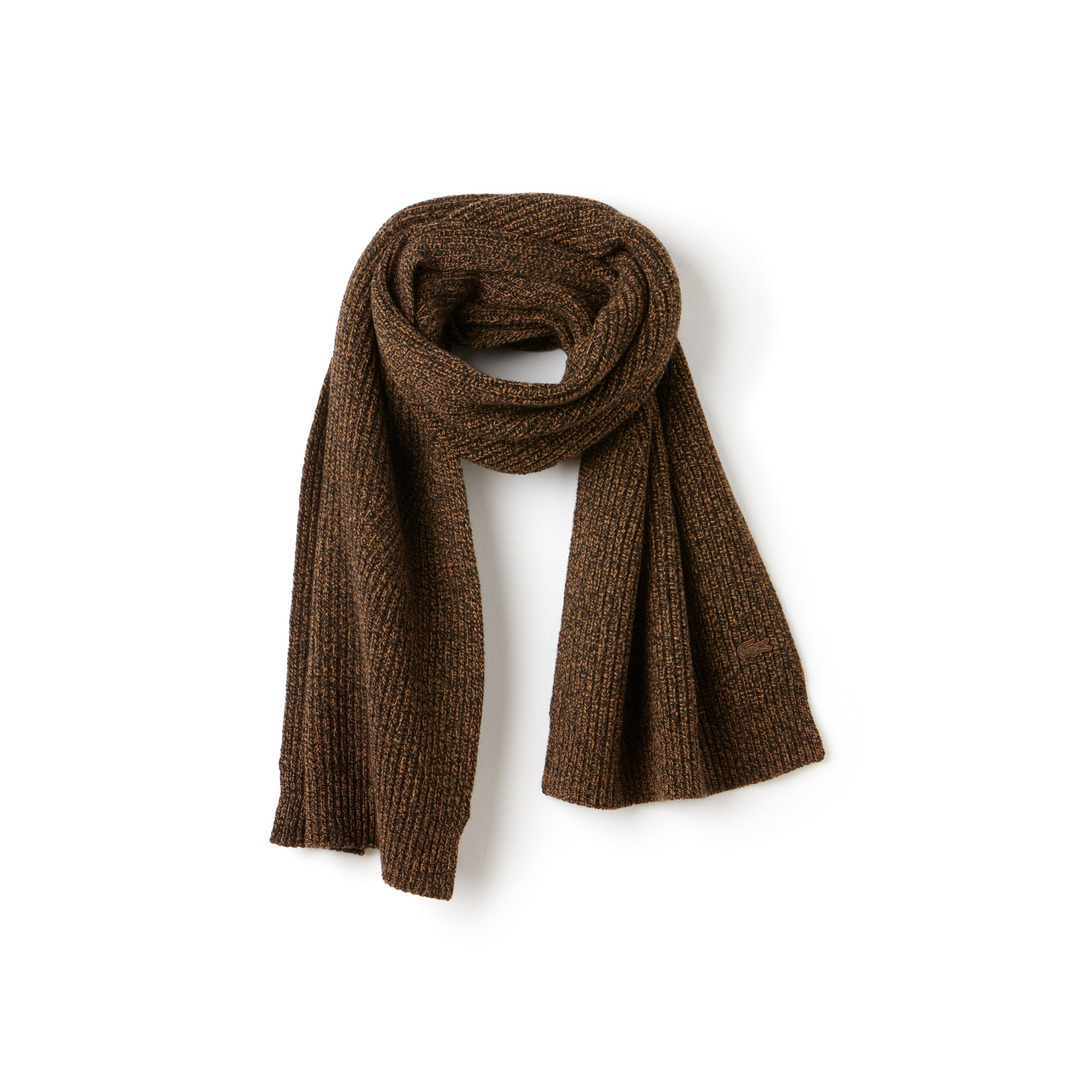 Women's Ribbed Mouliné Wool Scarf