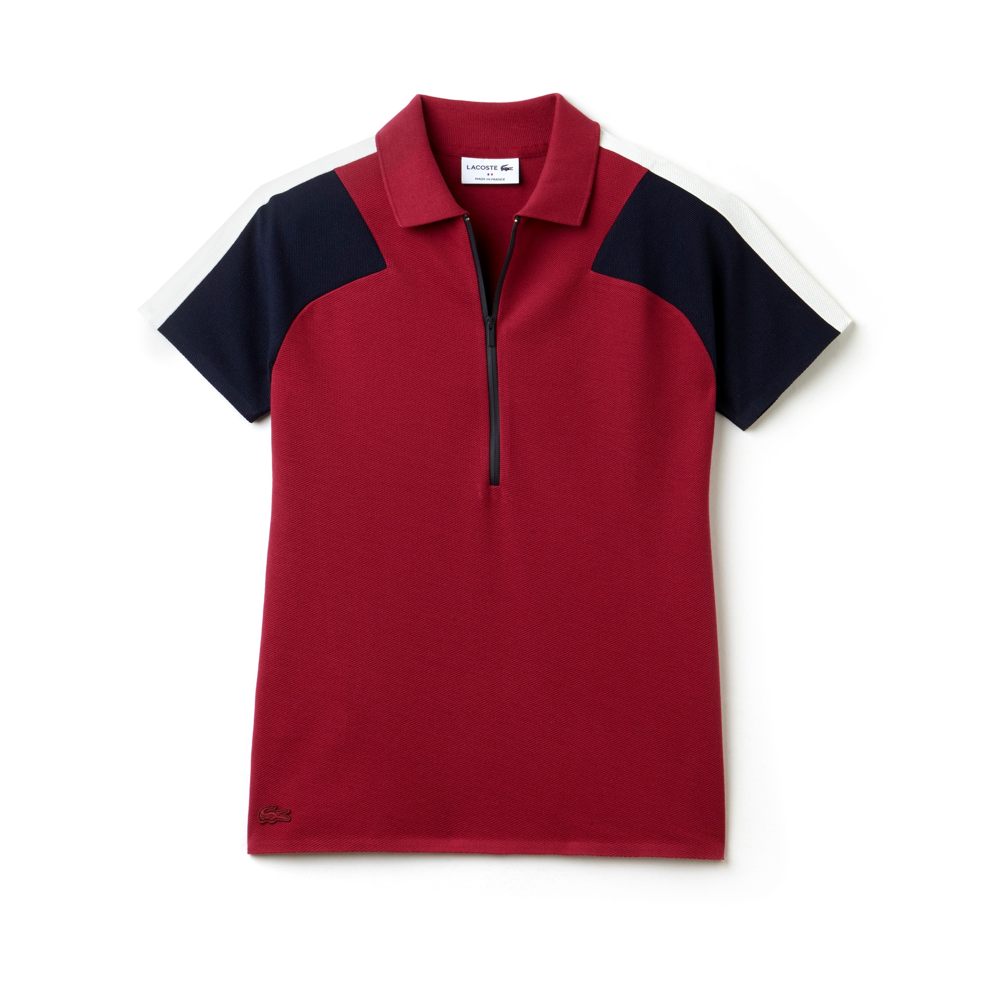 Women's  Made In France Slim Fit Zip Neck Piqué Polo