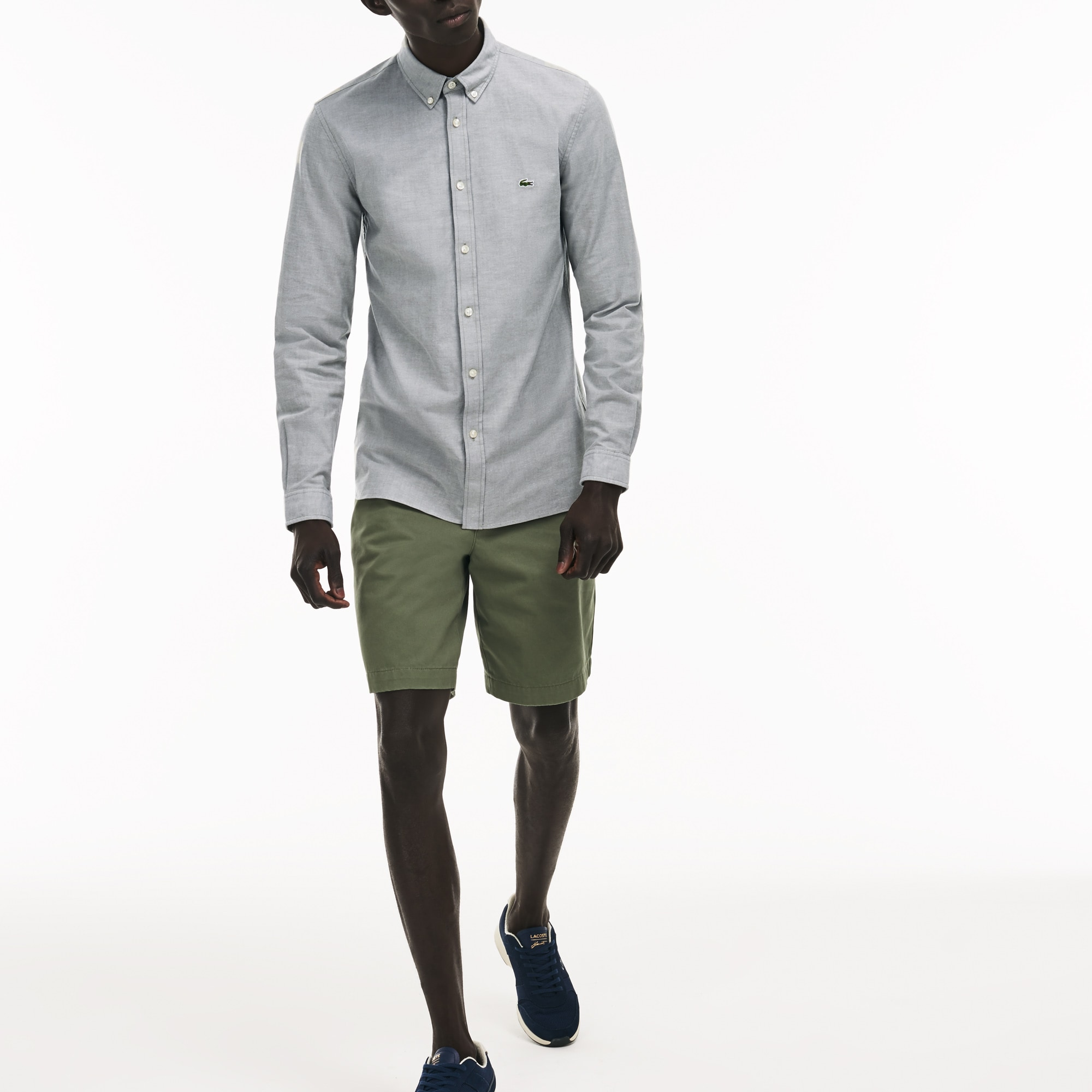 Men's Slim Fit Stretch Cotton Oxford Shirt
