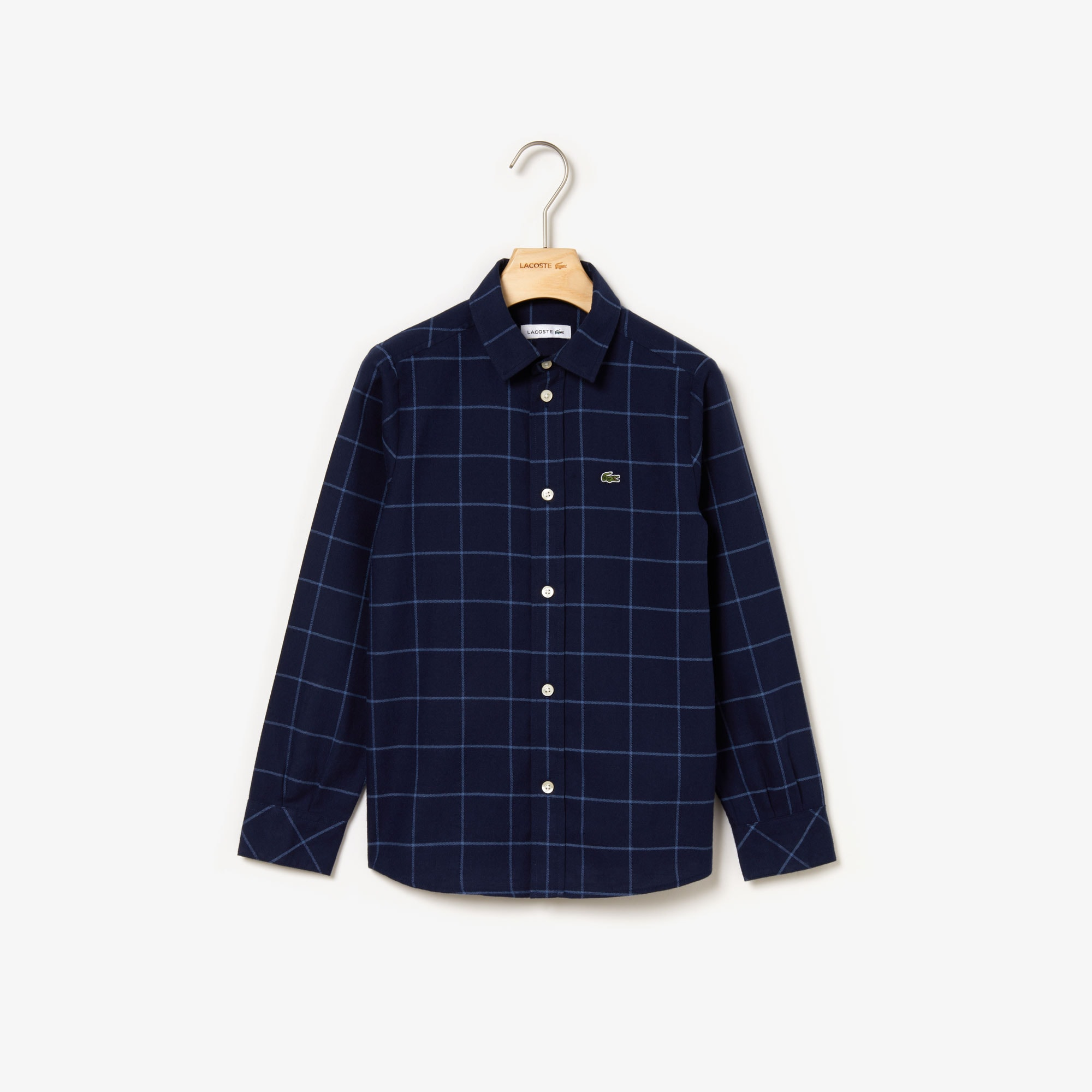 Lacoste Tops Boys' Check Flannel Shirt