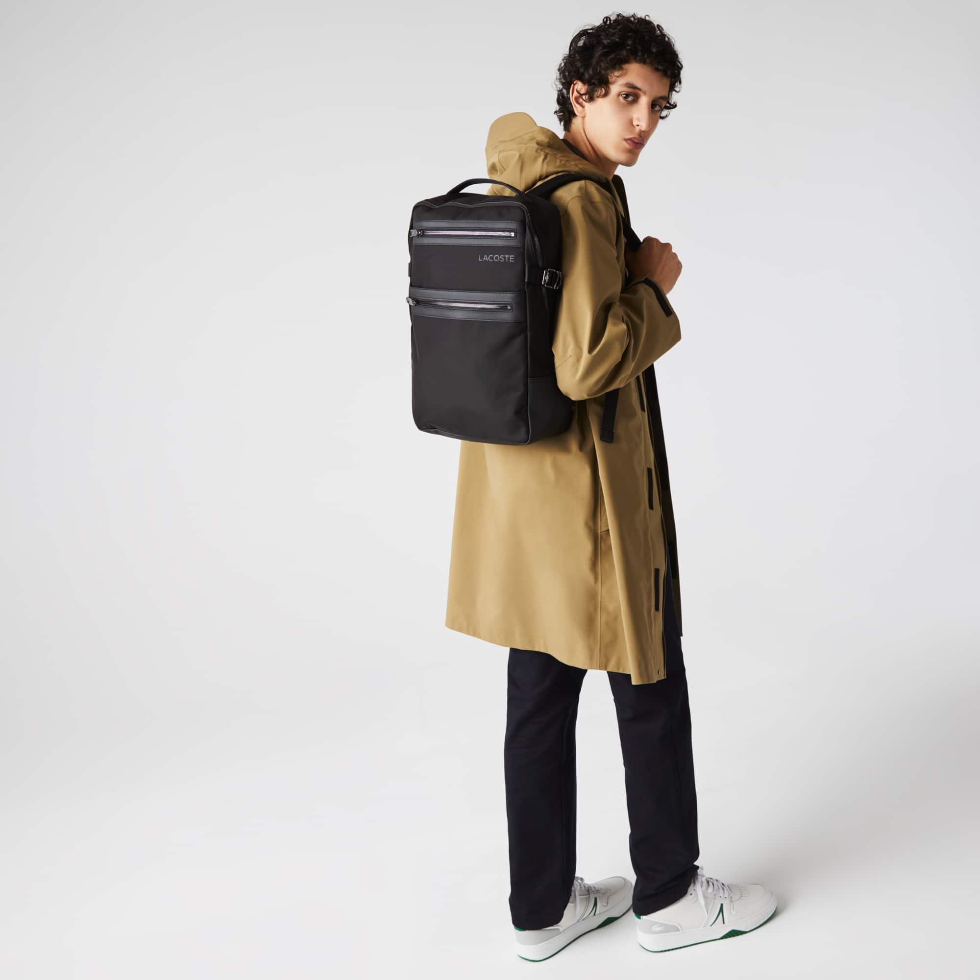 라코스테 Lacoste Men's L On The Go Canvas Backpack