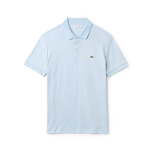 라코스테 Lacoste Mens Regular Fit Pima Cotton Interlock Polo,Light Blue - T01 (Selected colour)