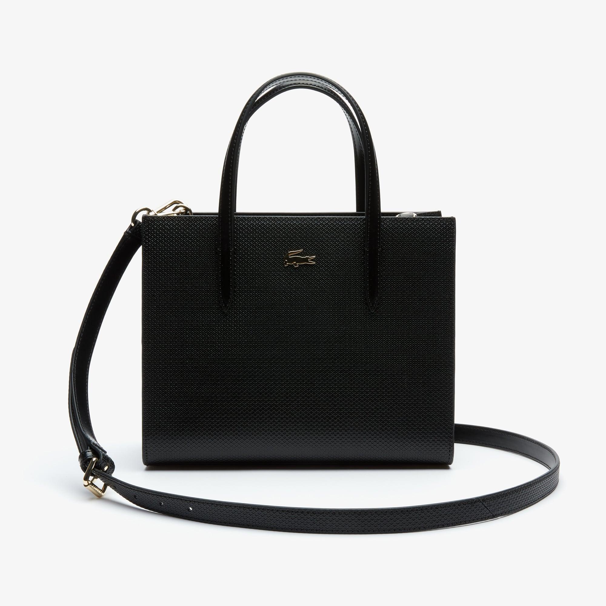 Women S Chantaco Dual Carry Piqué Zip Leather Tote