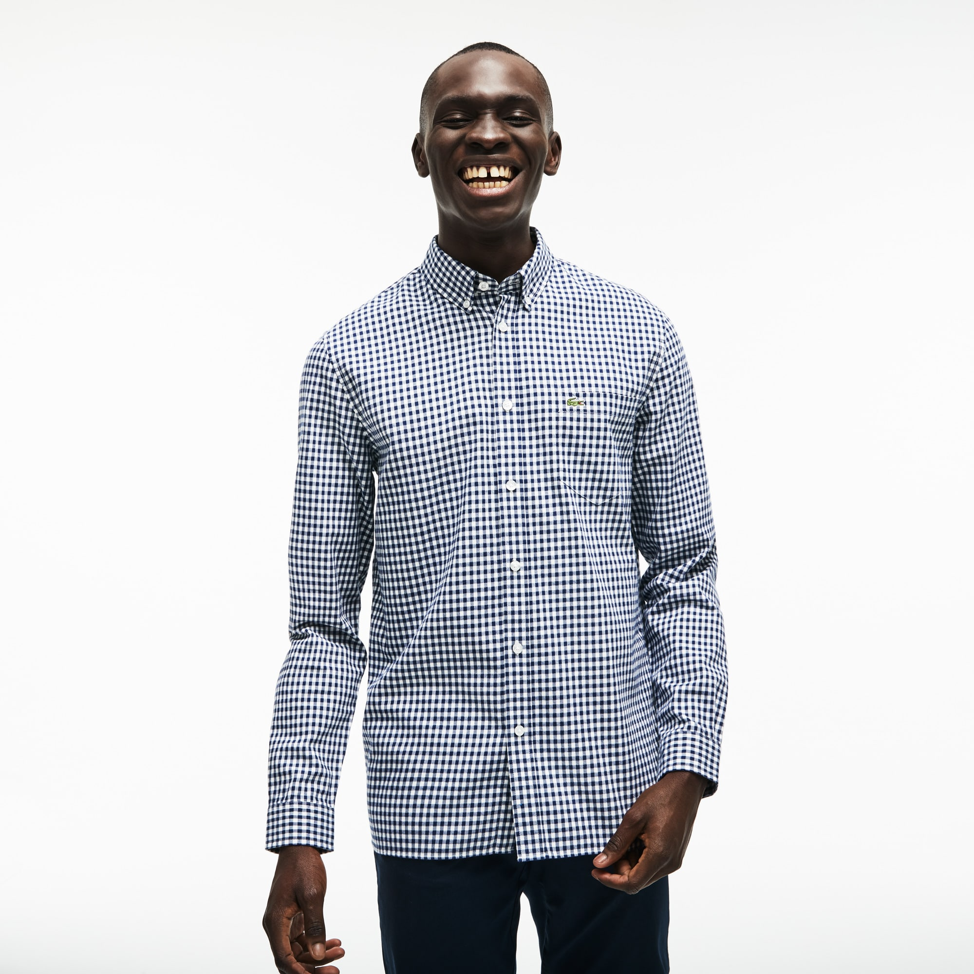 Men's Regular Fit Check Cotton Twill Shirt