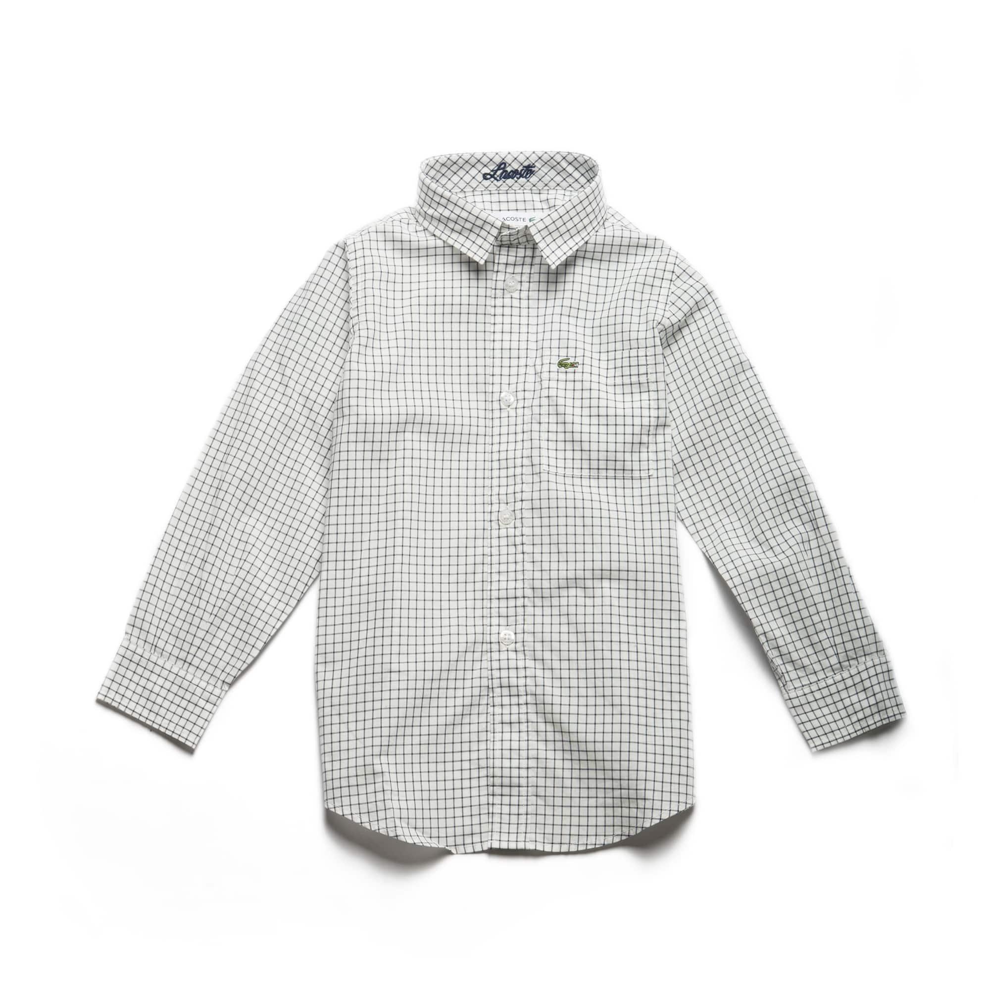 Boys' Check Cotton Poplin Shirt
