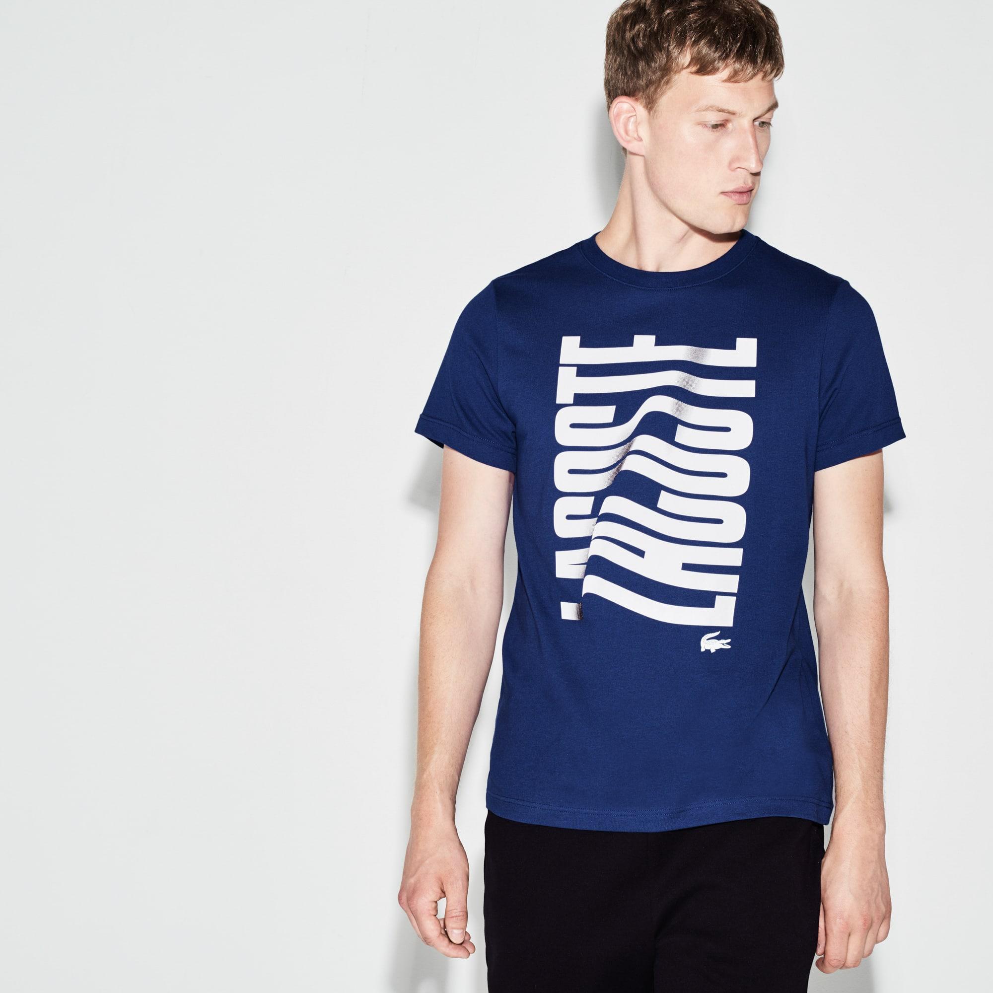 Men's  SPORT Tennis  Print Tech Jersey T-shirt