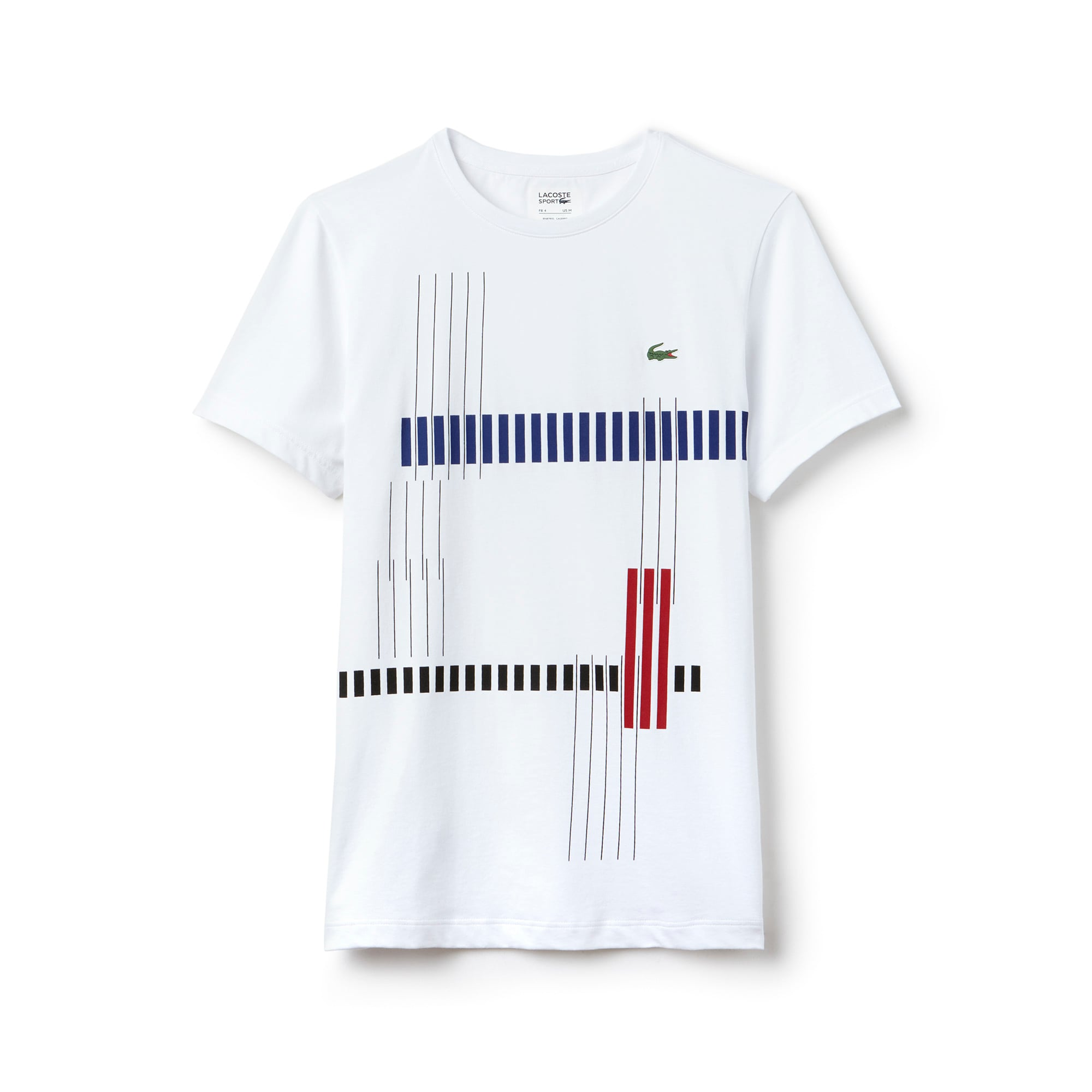 Men's SPORT Tennis Striped Design Tech Jersey T-shirt