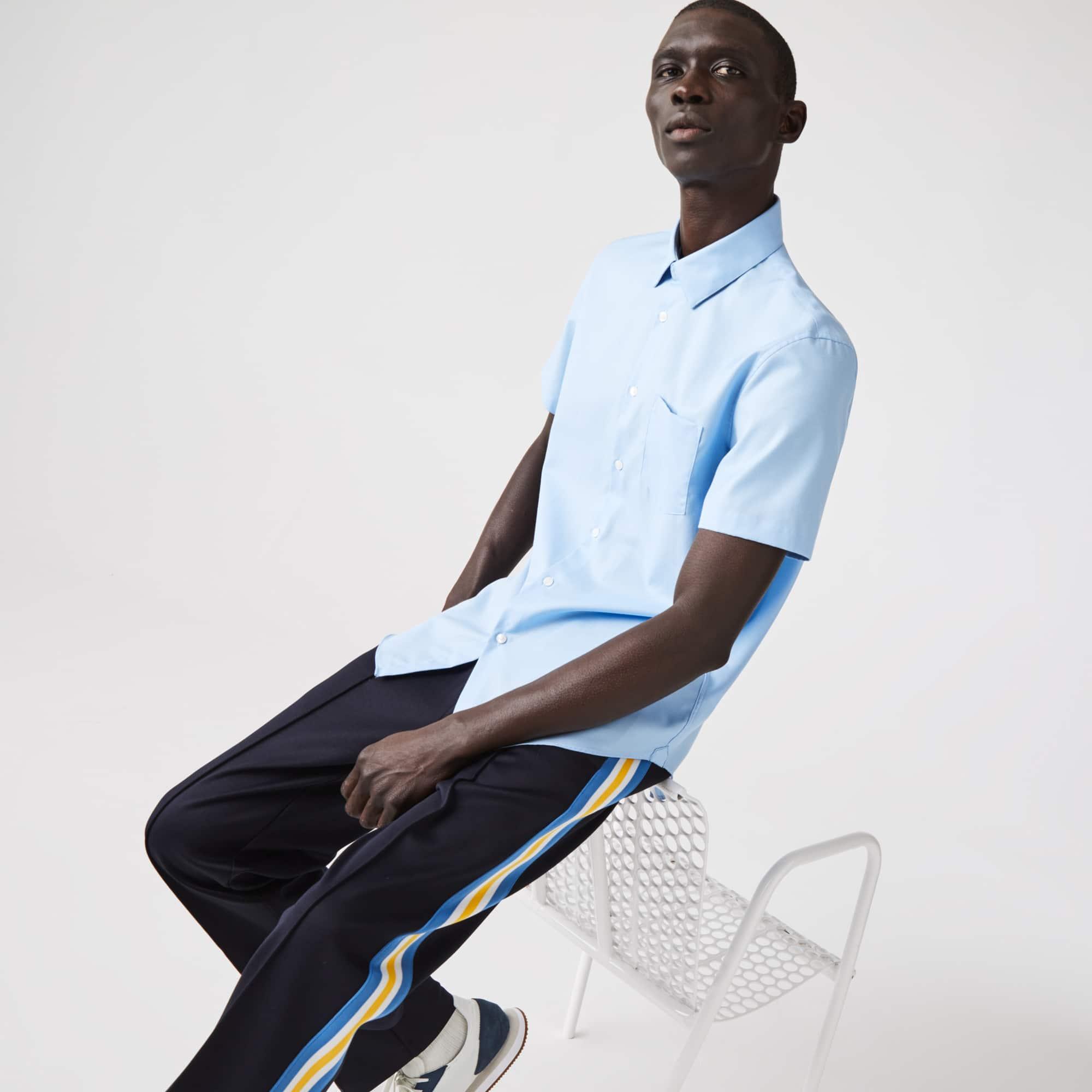 라코스테 맨 코튼 포플린 셔츠 Lacoste Mens Regular Fit Textured Cotton Poplin Shirt