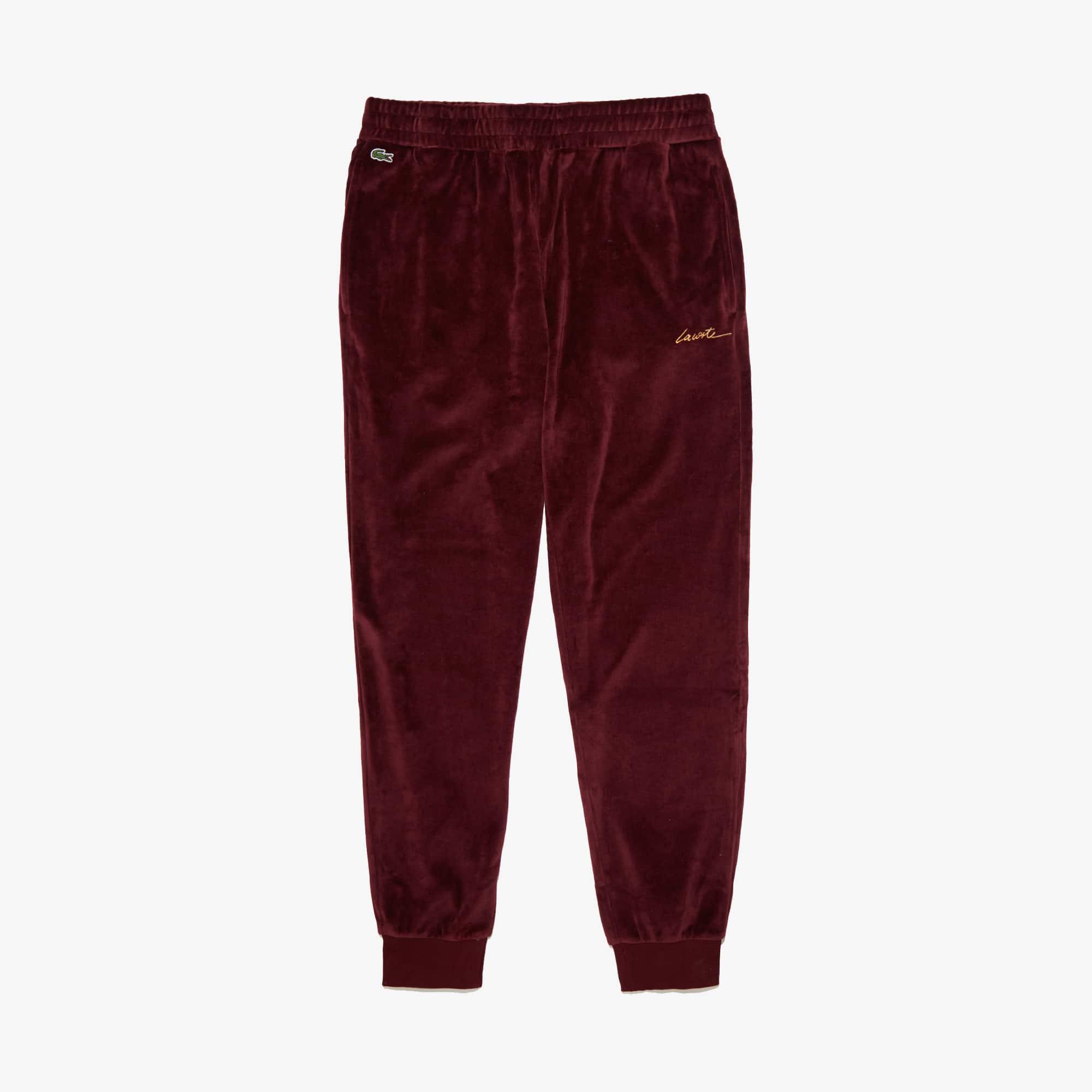 Lacoste Pants Men's LIVE Golden Signature Velvet Sweatpants